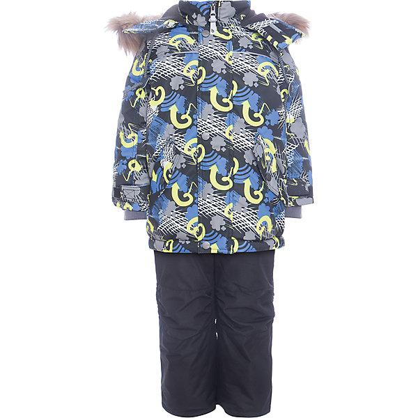 Комплект: куртка и полукомбенизон Дима Batik для мальчикаВерхняя одежда<br>Характеристики товара:<br><br>• цвет: синий<br>• комплектация: куртка и полукомбинезон, толстовка<br>• состав ткани: таслан<br>• подкладка: поларфлис<br>• утеплитель: слайтекс<br>• сезон: зима<br>• мембранное покрытие<br>• температурный режим: от -35 до 0<br>• водонепроницаемость: 5000 мм <br>• паропроницаемость: 5000 г/м2<br>• плотность утеплителя: куртка - 350 г/м2, полукомбинезон - 200 г/м2<br>• застежка: молния<br>• капюшон: с мехом, отстегивается<br>• в комплекте толстовка<br>• встроенный термодатчик<br>• страна бренда: Россия<br>• страна изготовитель: Россия<br><br>Зимний детский комплект защитит ребенка от попадания снега внутрь благодаря манжетам. Этот теплый зимний комплект для мальчика дополнен толстовкой. Мягкая подкладка детского комплекта для зимы делает его очень комфортным. Мембранное покрытие такого комплекта для мальчика позволяет ребенку не мерзнуть в сильный мороз. <br><br>Комплект: куртка и полукомбинезон Дима Batik (Батик) для мальчика можно купить в нашем интернет-магазине.<br><br>Ширина мм: 356<br>Глубина мм: 10<br>Высота мм: 245<br>Вес г: 519<br>Цвет: синий<br>Возраст от месяцев: 12<br>Возраст до месяцев: 18<br>Пол: Мужской<br>Возраст: Детский<br>Размер: 86,116,110,104,98,92<br>SKU: 7028309