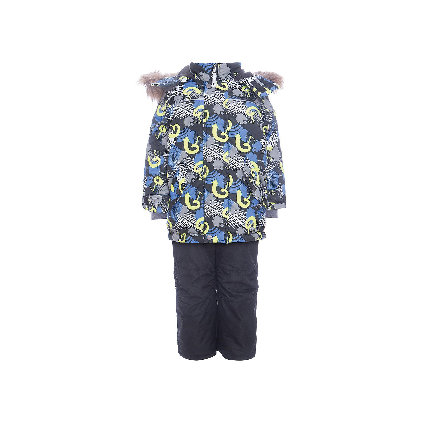Комплект: куртка и полукомбенизон Дима Batik для мальчикаВерхняя одежда<br>Характеристики товара:<br><br>• цвет: синий<br>• комплектация: куртка и полукомбинезон, толстовка<br>• состав ткани: таслан<br>• подкладка: поларфлис<br>• утеплитель: слайтекс<br>• сезон: зима<br>• мембранное покрытие<br>• температурный режим: от -35 до 0<br>• водонепроницаемость: 5000 мм <br>• паропроницаемость: 5000 г/м2<br>• плотность утеплителя: куртка - 350 г/м2, полукомбинезон - 200 г/м2<br>• застежка: молния<br>• капюшон: с мехом, отстегивается<br>• в комплекте толстовка<br>• встроенный термодатчик<br>• страна бренда: Россия<br>• страна изготовитель: Россия<br><br>Зимний детский комплект защитит ребенка от попадания снега внутрь благодаря манжетам. Этот теплый зимний комплект для мальчика дополнен толстовкой. Мягкая подкладка детского комплекта для зимы делает его очень комфортным. Мембранное покрытие такого комплекта для мальчика позволяет ребенку не мерзнуть в сильный мороз. <br><br>Комплект: куртка и полукомбинезон Дима Batik (Батик) для мальчика можно купить в нашем интернет-магазине.<br><br>Ширина мм: 356<br>Глубина мм: 10<br>Высота мм: 245<br>Вес г: 519<br>Цвет: синий<br>Возраст от месяцев: 12<br>Возраст до месяцев: 18<br>Пол: Мужской<br>Возраст: Детский<br>Размер: 86,92,98,104,110,116<br>SKU: 7028309