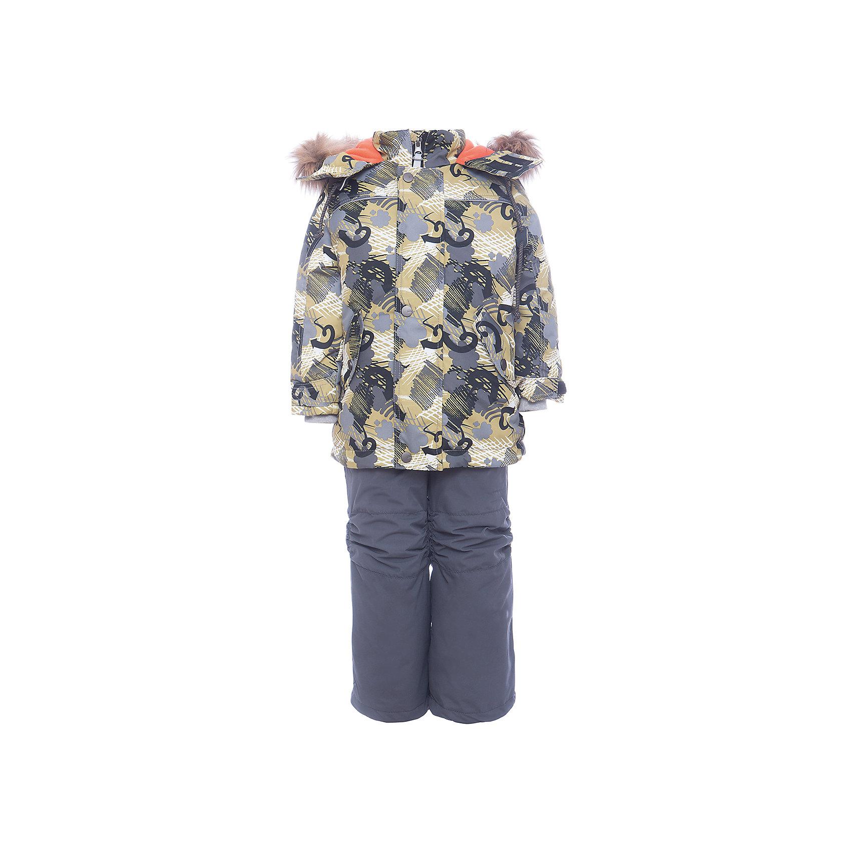 Комплект: куртка и полукомбенизон Дима Batik для мальчикаВерхняя одежда<br>Комплект: куртка и полукомбенизон Дима Batik для мальчика<br>Верхняя ткань обладает водоотталкивающими и ветрозащитными свойствами мембраны. Полукомбинезон с отстегивающимися лямками, имеются липучки для регулировки ширины низа брюк. Куртка на молнии с ветрозащитной планкой и юбкой внутри. Капюшон на кнопках со съемной опушкой. <br>Состав:<br>Ткань верха - TASLON OXFORD;  Утеплитель - Слайтекс 350;  Подкладка - Полар флис;<br><br>Ширина мм: 356<br>Глубина мм: 10<br>Высота мм: 245<br>Вес г: 519<br>Цвет: хаки<br>Возраст от месяцев: 60<br>Возраст до месяцев: 72<br>Пол: Мужской<br>Возраст: Детский<br>Размер: 116,104,110<br>SKU: 7028325