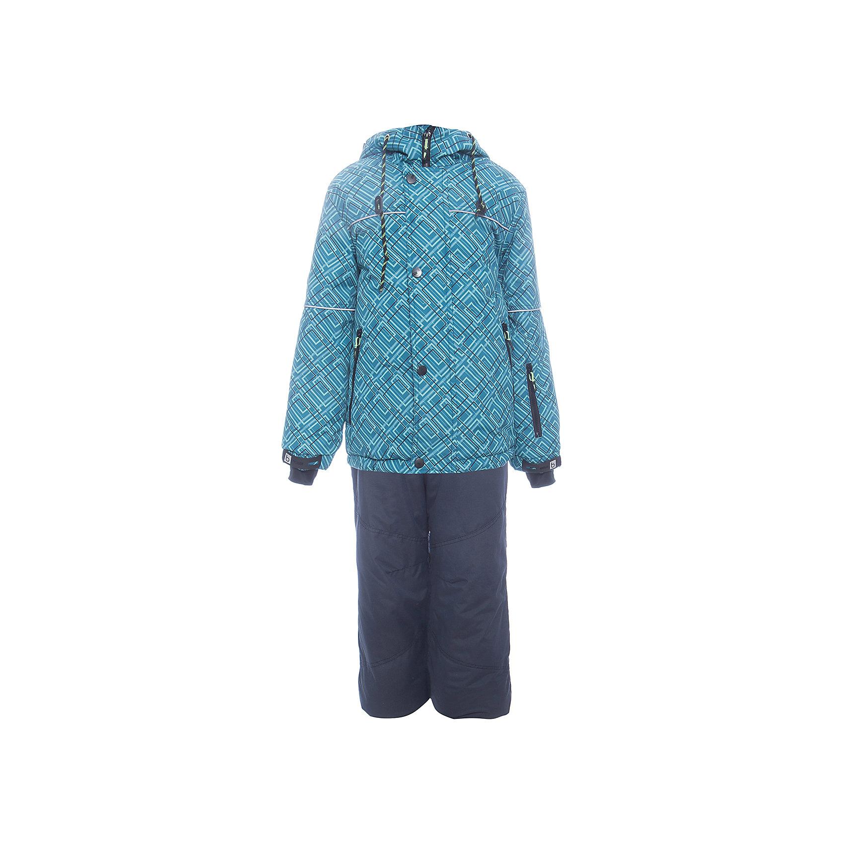 Комплект: куртка и полукомбенизон Юпитер Batik для мальчикаВерхняя одежда<br>Характеристики товара:<br><br>• цвет: бирюзовый<br>• комплектация: куртка и полукомбинезон<br>• состав ткани: таслан<br>• подкладка: поларфлис<br>• утеплитель: слайтекс<br>• сезон: зима<br>• мембранное покрытие<br>• температурный режим: от -35 до 0<br>• водонепроницаемость: 5000 мм <br>• паропроницаемость: 5000 г/м2<br>• плотность утеплителя: куртка - 350 г/м2, полукомбинезон - 200 г/м2<br>• застежка: молния<br>• капюшон: без меха, отстегивается<br>• встроенный термодатчик<br>• страна бренда: Россия<br>• страна изготовитель: Россия<br><br>Зимний комплект для ребенка оснащен удобной молнией и капюшоном. Модный мембранный комплект для мальчика элементарно чистится и долго служит. Детский комплект для зимы сделан легкого, но теплого материала. Этот мембранный комплект для мальчика отличается удобными внутренними манжетами. <br><br>Комплект: куртка и полукомбинезон Юпитер Batik (Батик) для мальчика можно купить в нашем интернет-магазине.<br><br>Ширина мм: 356<br>Глубина мм: 10<br>Высота мм: 245<br>Вес г: 519<br>Цвет: бирюзовый<br>Возраст от месяцев: 120<br>Возраст до месяцев: 132<br>Пол: Мужской<br>Возраст: Детский<br>Размер: 146,122,128,134,140<br>SKU: 7028329