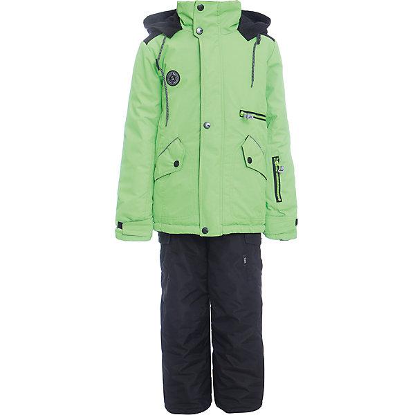Комплект: куртка и полукомбенизон Марс Batik для мальчикаВерхняя одежда<br>Характеристики товара:<br><br>• цвет: лайм<br>• комплектация: куртка и полукомбинезон<br>• состав ткани: таслан<br>• подкладка: поларфлис<br>• утеплитель: слайтекс<br>• сезон: зима<br>• мембранное покрытие<br>• температурный режим: от -35 до 0<br>• водонепроницаемость: 5000 мм <br>• паропроницаемость: 5000 г/м2<br>• плотность утеплителя: куртка - 350 г/м2, полукомбинезон - 200 г/м2<br>• застежка: молния<br>• капюшон: без меха, отстегивается<br>• встроенный термодатчик<br>• страна бренда: Россия<br>• страна изготовитель: Россия<br><br>Зимний детский комплект защитит ребенка от попадания снега внутрь благодаря манжетам. Мягкая подкладка детского комплекта для зимы обеспечивает высокий уровень комфорта. Мембрана этого комплекта для мальчика позволяет надевать его даже в сильный мороз. Это зимний комплект для мальчика дополнен удобными карманами и капюшоном. <br><br>Комплект: куртка и полукомбинезон Марс Batik (Батик) для мальчика можно купить в нашем интернет-магазине.<br>Ширина мм: 356; Глубина мм: 10; Высота мм: 245; Вес г: 519; Цвет: зеленый; Возраст от месяцев: 84; Возраст до месяцев: 96; Пол: Мужской; Возраст: Детский; Размер: 128,158,152,146,140,134; SKU: 7028361;
