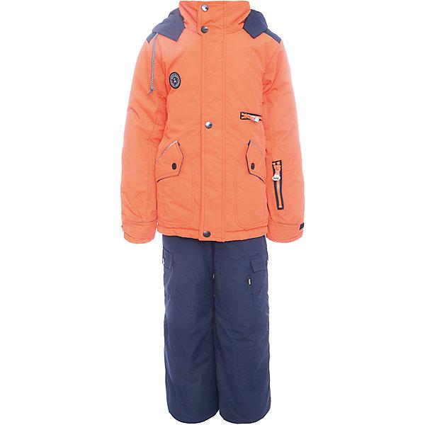 Комплект: куртка и полукомбенизон Марс Batik для мальчикаВерхняя одежда<br>Характеристики товара:<br><br>• цвет: оранжевый<br>• комплектация: куртка и полукомбинезон<br>• состав ткани: таслан<br>• подкладка: поларфлис<br>• утеплитель: слайтекс<br>• сезон: зима<br>• мембранное покрытие<br>• температурный режим: от -35 до 0<br>• водонепроницаемость: 5000 мм <br>• паропроницаемость: 5000 г/м2<br>• плотность утеплителя: куртка - 350 г/м2, полукомбинезон - 200 г/м2<br>• застежка: молния<br>• капюшон: без меха, отстегивается<br>• встроенный термодатчик<br>• страна бренда: Россия<br>• страна изготовитель: Россия<br><br>Мембранное покрытие комплекта для мальчика позволяет ребенку не мерзнуть в сильный мороз. Зимний детский комплект защитит ребенка от попадания снега внутрь благодаря манжетам. Мягкая подкладка детского комплекта для зимы делает его очень комфортным. <br><br>Комплект: куртка и полукомбинезон Марс Batik (Батик) для мальчика можно купить в нашем интернет-магазине.<br>Ширина мм: 356; Глубина мм: 10; Высота мм: 245; Вес г: 519; Цвет: оранжевый; Возраст от месяцев: 96; Возраст до месяцев: 108; Пол: Мужской; Возраст: Детский; Размер: 134,152,158,146,140,128; SKU: 7028365;