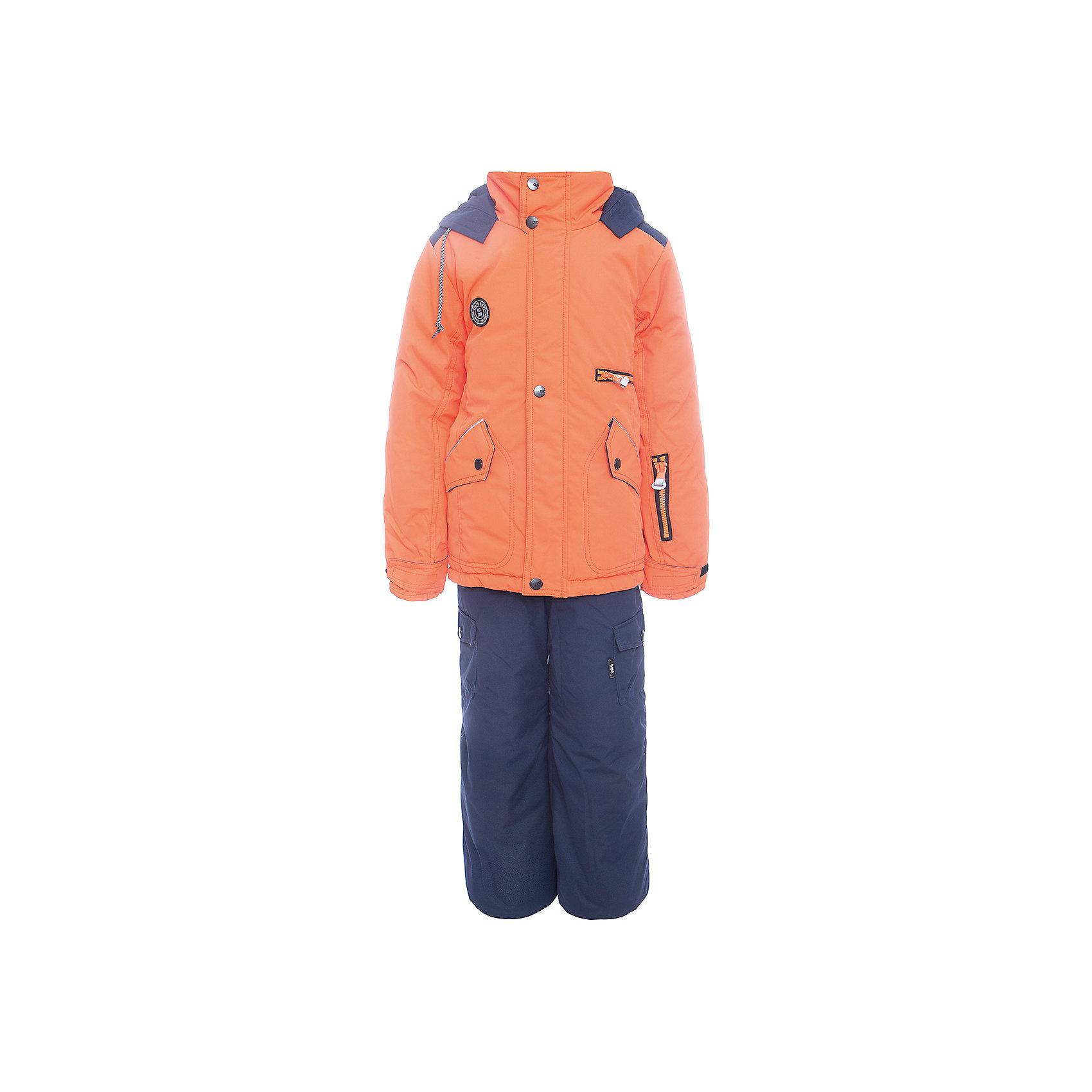 Комплект: куртка и полукомбенизон Марс Batik для мальчикаВерхняя одежда<br>Комплект: куртка и полукомбенизон Марс Batik для мальчика<br>Верхняя ткань обладает водоотталкивающими и ветрозащитными свойствами мембраны. Полукомбинезон с отстегивающимися лямками. Куртка на молнии с ветрозащитной планкой и юбкой внутри, светоотражающими элементами и капюшон на молнии.<br>Состав:<br>Ткань верха - TASLON OXFORD;  Утеплитель - Слайтекс 250;  Подкладка - Полар флис;<br><br>Ширина мм: 356<br>Глубина мм: 10<br>Высота мм: 245<br>Вес г: 519<br>Цвет: оранжевый<br>Возраст от месяцев: 84<br>Возраст до месяцев: 96<br>Пол: Мужской<br>Возраст: Детский<br>Размер: 128,140,134<br>SKU: 7028365