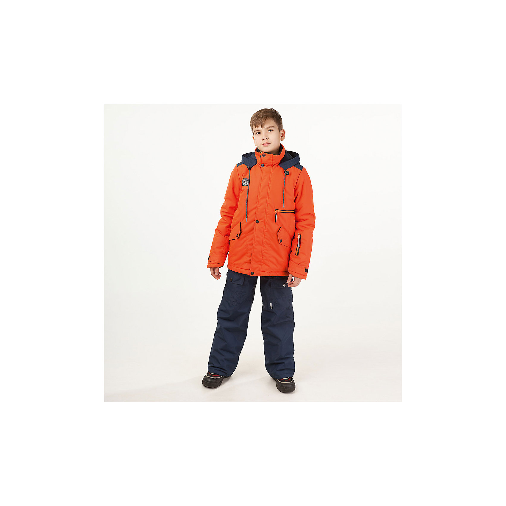 Комплект: куртка и полукомбенизон Марс Batik для мальчикаВерхняя одежда<br>Комплект: куртка и полукомбенизон Марс Batik для мальчика<br>Верхняя ткань обладает водоотталкивающими и ветрозащитными свойствами мембраны. Полукомбинезон с отстегивающимися лямками. Куртка на молнии с ветрозащитной планкой и юбкой внутри, светоотражающими элементами и капюшон на молнии.<br>Состав:<br>Ткань верха - TASLON OXFORD;  Утеплитель - Слайтекс 250;  Подкладка - Полар флис;<br><br>Ширина мм: 356<br>Глубина мм: 10<br>Высота мм: 245<br>Вес г: 519<br>Цвет: оранжевый<br>Возраст от месяцев: 144<br>Возраст до месяцев: 156<br>Пол: Мужской<br>Возраст: Детский<br>Размер: 158,152,146<br>SKU: 7028377