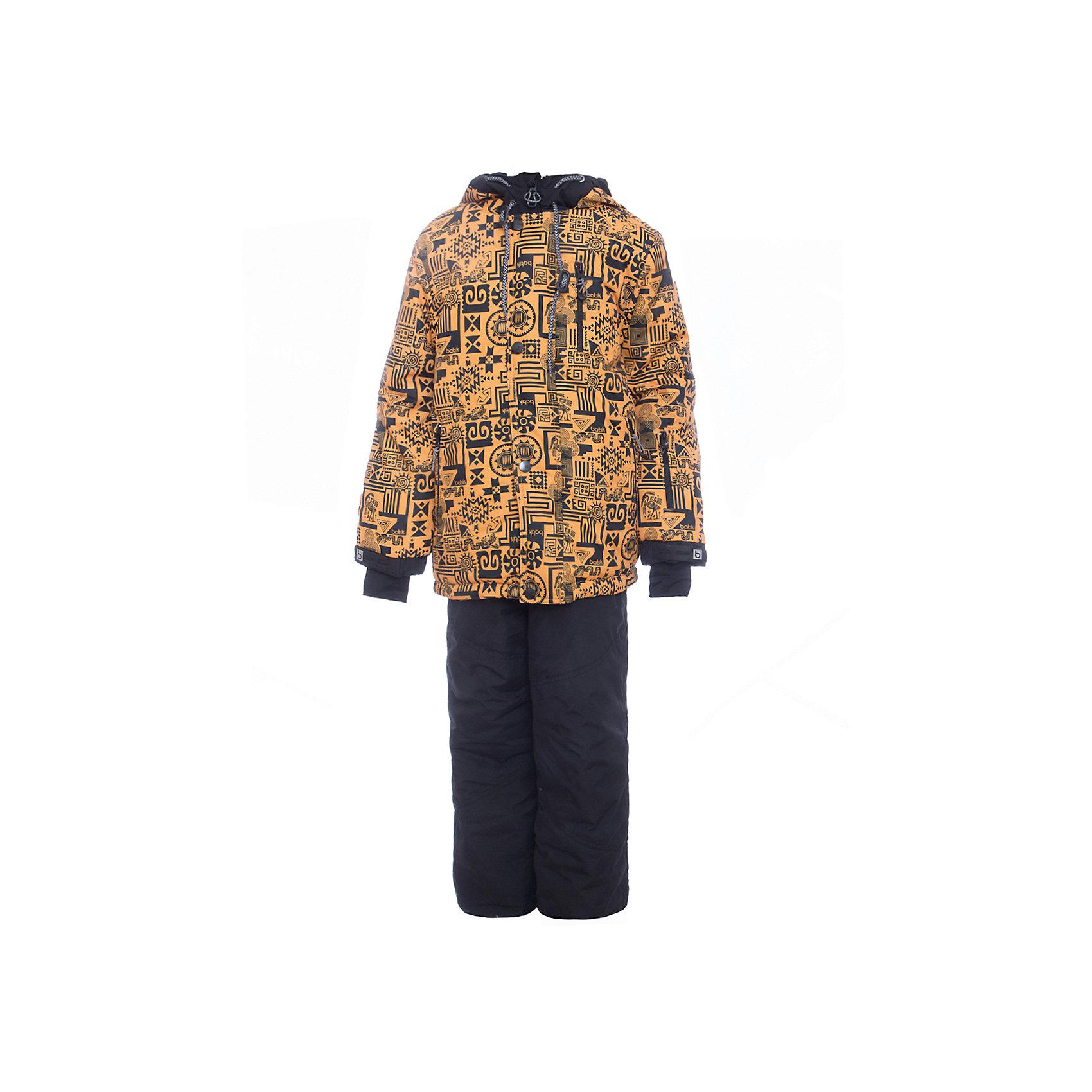 Комплект: куртка и полукомбенизон Сэм Batik для мальчикаВерхняя одежда<br>Комплект: куртка и полукомбенизон Сэм Batik для мальчика<br>Верхняя ткань обладает водоотталкивающими и ветрозащитными свойствами мембраны. Полукомбинезон с отстегивающимися лямками. Куртка на молнии с ветрозащитной планкой и юбкой внутри, светоотражающими элементами и капюшон на молнии.<br>Состав:<br>Ткань верха - TASLON OXFORD;  Утеплитель - Слайтекс 300;  Подкладка - Полар флис;<br><br>Ширина мм: 356<br>Глубина мм: 10<br>Высота мм: 245<br>Вес г: 519<br>Цвет: желтый<br>Возраст от месяцев: 108<br>Возраст до месяцев: 120<br>Пол: Мужской<br>Возраст: Детский<br>Размер: 140,122,128,134<br>SKU: 7028414