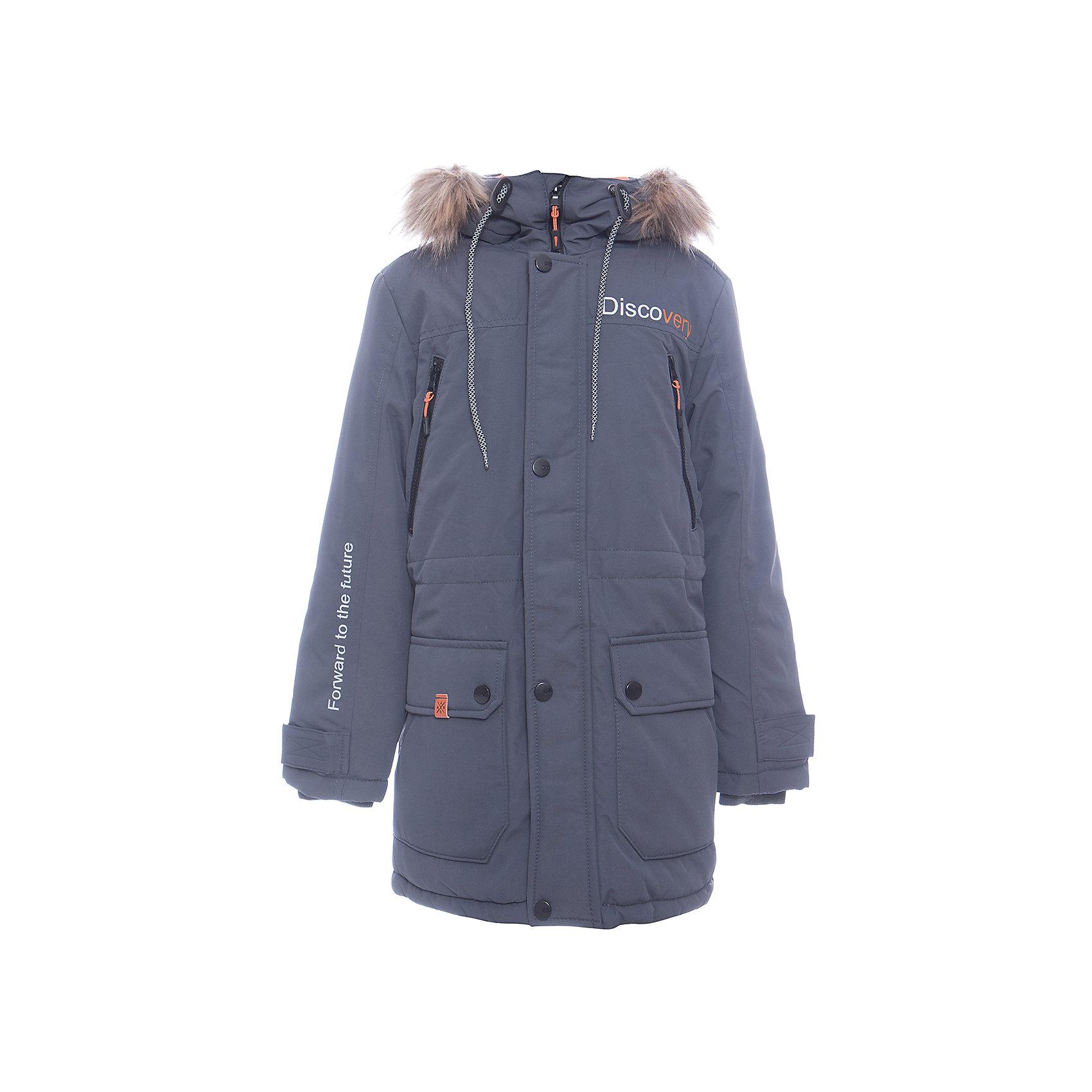Куртка Томас Batik для мальчикаВерхняя одежда<br>Характеристики товара:<br><br>• цвет: графит<br>• состав ткани: таслан<br>• подкладка: поларфлис<br>• утеплитель: слайтекс<br>• сезон: зима<br>• мембранное покрытие<br>• температурный режим: от -35 до 0<br>• водонепроницаемость: 5000 мм <br>• паропроницаемость: 5000 г/м2<br>• плотность утеплителя: 300 г/м2<br>• застежка: молния<br>• капюшон: с мехом, съемный<br>• страна бренда: Россия<br>• страна изготовитель: Россия<br><br>Обеспечить ребенку защиту от мороза, влаги и ветра поможет теплая детская куртка. Зимняя куртка Batik для мальчика благодаря мембранному покрытию подходит для ношения в сильные морозы. Детская куртка от бренда Batik отличается удобным капюшоном и карманами. Мембранная зимняя куртка стильная и теплая. <br><br>Куртку Томас Batik (Батик) для мальчика можно купить в нашем интернет-магазине.<br><br>Ширина мм: 356<br>Глубина мм: 10<br>Высота мм: 245<br>Вес г: 519<br>Цвет: серый<br>Возраст от месяцев: 120<br>Возраст до месяцев: 132<br>Пол: Мужской<br>Возраст: Детский<br>Размер: 146,152,158,164,134,140<br>SKU: 7028451