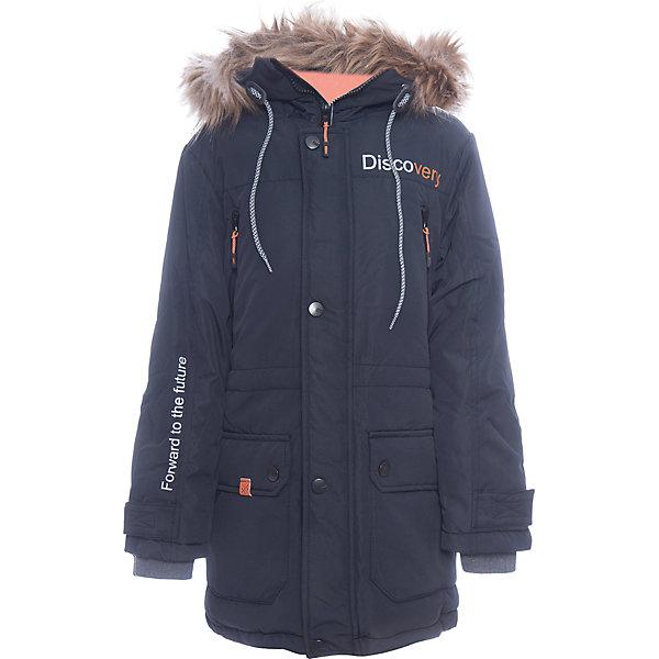 Куртка Томас Batik для мальчикаВерхняя одежда<br>Характеристики товара:<br><br>• цвет: синий<br>• состав ткани: таслан<br>• подкладка: поларфлис<br>• утеплитель: слайтекс<br>• сезон: зима<br>• мембранное покрытие<br>• температурный режим: от -35 до 0<br>• водонепроницаемость: 5000 мм <br>• паропроницаемость: 5000 г/м2<br>• плотность утеплителя: 300 г/м2<br>• застежка: молния<br>• капюшон: с мехом, съемный<br>• страна бренда: Россия<br>• страна изготовитель: Россия<br><br>Синяя куртка для мальчика благодаря высокотехнологичному покрытию подходит для ношения в сильные морозы. Детская куртка от бренда Batik отличается удобным капюшоном и карманами. Мембранная зимняя куртка стильная и теплая. Прочное покрытие детской куртки не задерживает воздух, но защищает от влаги, ветра и холода. <br><br>Куртку Томас Batik (Батик) для мальчика можно купить в нашем интернет-магазине.<br><br>Ширина мм: 356<br>Глубина мм: 10<br>Высота мм: 245<br>Вес г: 519<br>Цвет: синий<br>Возраст от месяцев: 96<br>Возраст до месяцев: 108<br>Пол: Мужской<br>Возраст: Детский<br>Размер: 134,164,158,152,146,140<br>SKU: 7028455