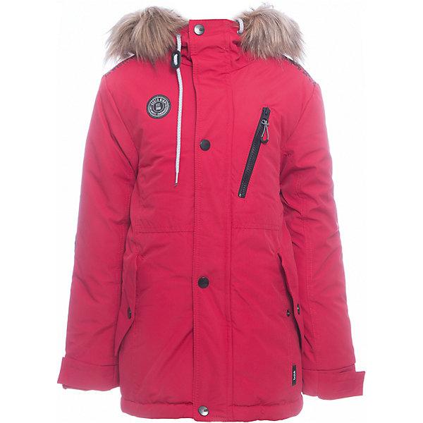 Куртка Игнат Batik для мальчикаВерхняя одежда<br>Характеристики товара:<br><br>• цвет: красный<br>• состав ткани: таслан<br>• подкладка: поларфлис<br>• утеплитель: слайтекс<br>• сезон: зима<br>• мембранное покрытие<br>• температурный режим: от -35 до 0<br>• водонепроницаемость: 5000 мм <br>• паропроницаемость: 5000 г/м2<br>• плотность утеплителя: 300 г/м2<br>• застежка: молния<br>• капюшон: с мехом, несъемный<br>• страна бренда: Россия<br>• страна изготовитель: Россия<br><br>Тепло и удобство одновременно обеспечит мембранная зимняя куртка. Качественный мембранный материал детской куртки не задерживает воздух, но защищает от влаги, ветра и холода. Эта куртка для мальчика подходит для ношения даже в сильные морозы. Детская куртка от бренда Batik отличается удобным капюшоном и карманами. <br><br>Куртку Игнат Batik (Батик) для мальчика можно купить в нашем интернет-магазине.<br><br>Ширина мм: 356<br>Глубина мм: 10<br>Высота мм: 245<br>Вес г: 519<br>Цвет: красный<br>Возраст от месяцев: 84<br>Возраст до месяцев: 96<br>Пол: Мужской<br>Возраст: Детский<br>Размер: 128,158,146,152,140,134<br>SKU: 7028491