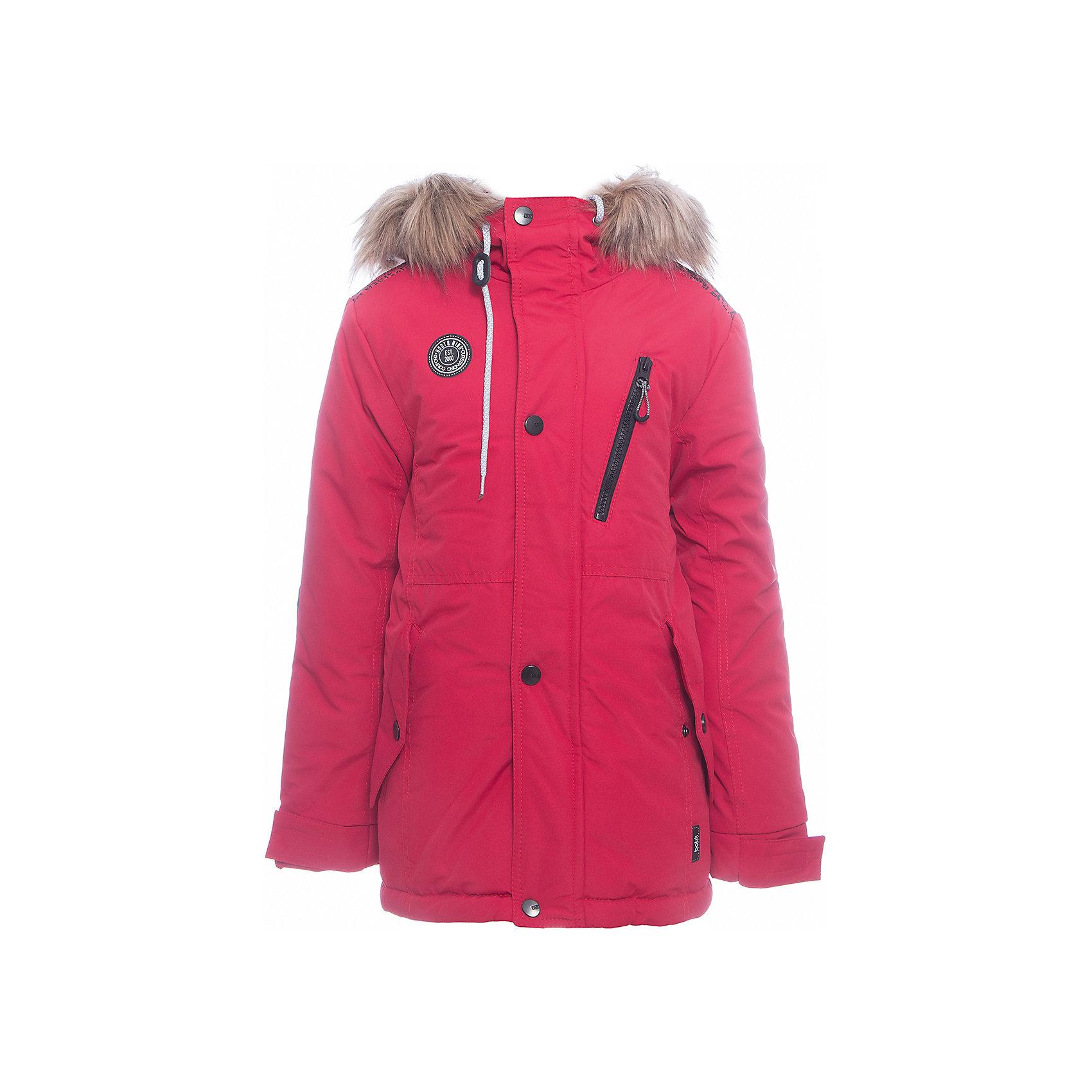 Куртка Игнат Batik для мальчикаВерхняя одежда<br>Характеристики товара:<br><br>• цвет: красный<br>• состав ткани: таслан<br>• подкладка: поларфлис<br>• утеплитель: слайтекс<br>• сезон: зима<br>• мембранное покрытие<br>• температурный режим: от -35 до 0<br>• водонепроницаемость: 5000 мм <br>• паропроницаемость: 5000 г/м2<br>• плотность утеплителя: 300 г/м2<br>• застежка: молния<br>• капюшон: с мехом, несъемный<br>• страна бренда: Россия<br>• страна изготовитель: Россия<br><br>Тепло и удобство одновременно обеспечит мембранная зимняя куртка. Качественный мембранный материал детской куртки не задерживает воздух, но защищает от влаги, ветра и холода. Эта куртка для мальчика подходит для ношения даже в сильные морозы. Детская куртка от бренда Batik отличается удобным капюшоном и карманами. <br><br>Куртку Игнат Batik (Батик) для мальчика можно купить в нашем интернет-магазине.<br><br>Ширина мм: 356<br>Глубина мм: 10<br>Высота мм: 245<br>Вес г: 519<br>Цвет: красный<br>Возраст от месяцев: 144<br>Возраст до месяцев: 156<br>Пол: Мужской<br>Возраст: Детский<br>Размер: 158,128,134,140,146,152<br>SKU: 7028491