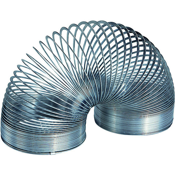 Пружинка металлическая серебрянная,SlinkyАнтистресс игрушки для рук<br>Характеристики:<br><br>• возраст: от 3 лет;<br>• цвет: серебро;<br>• сложность игры: 1/5;<br>• материал: белая пружинная сталь;<br>• количество игроков: 1;<br>• время игры: 10 мин.;<br>• размер пружинки: 5,7х7,3 см;<br>• вес упаковки: 215 г.;<br>• тип упаковки: картонная коробка с демо-окошком;<br>• размер упаковки: 3х3,5х7 см.<br>  <br>Металлическая пружинка «Слинки Ориджинал» - классическая игрушка для мальчиков и девочек.<br><br>Специальный плоский профиль витков обеспечивает плавный и мягкий эффект перекатывания исключает возможность случайного запутывания во время игры. Эта пружинка «шагает» по лестнице, благодаря большему весу и упругости по сравнению с пластиковыми Slinky.<br><br>Пружинку металлическую, Slinky можно приобрести в нашем интернет-магазине.<br><br>Ширина мм: 77<br>Глубина мм: 77<br>Высота мм: 60<br>Вес г: 350<br>Возраст от месяцев: 60<br>Возраст до месяцев: 2147483647<br>Пол: Унисекс<br>Возраст: Детский<br>SKU: 7028999