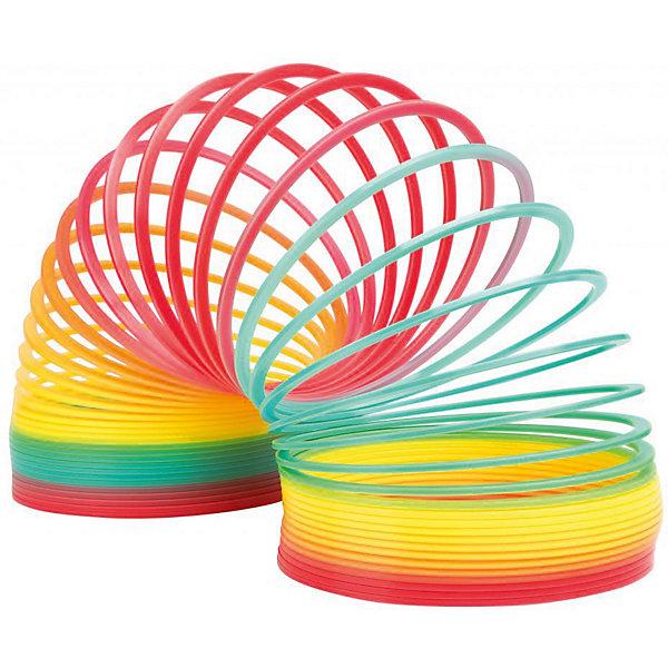Пружинка  Радуга Гигант, SlinkyАнтистресс игрушки для рук<br>Характеристики:<br><br>• возраст: от 3 лет;<br>• цвет: разноцветная;<br>• сложность игры: 1/5;<br>• материал: пластик;<br>• количество игроков: 1;<br>• время игры: 10 мин.;<br>• диаметр пружинки: 13 см;<br>• вес упаковки:  445 г.;<br>• тип упаковки: картонное кольцо;<br>• размер упаковки: 13х13х14 см.<br>  <br>Самая большая пластиковая пружинка из выпускаемых компанией Slinky в диаметре составляет 13 см.<br><br>Специальный плоский профиль витков обеспечивает плавный и мягкий эффект перекатывания исключает возможность случайного запутывания во время игры. Эта пружинка «шагает» по лестнице намного шире, а тянется длиннее. <br><br>Цвета пружинки расположены в правильном порядке радуги, которые красиво переливаются во время движения. <br><br>Пружинку Радуга «Гигант», Slinky можно приобрести в нашем интернет-магазине<br>Ширина мм: 130; Глубина мм: 130; Высота мм: 130; Вес г: 450; Возраст от месяцев: 60; Возраст до месяцев: 2147483647; Пол: Унисекс; Возраст: Детский; SKU: 7029001;