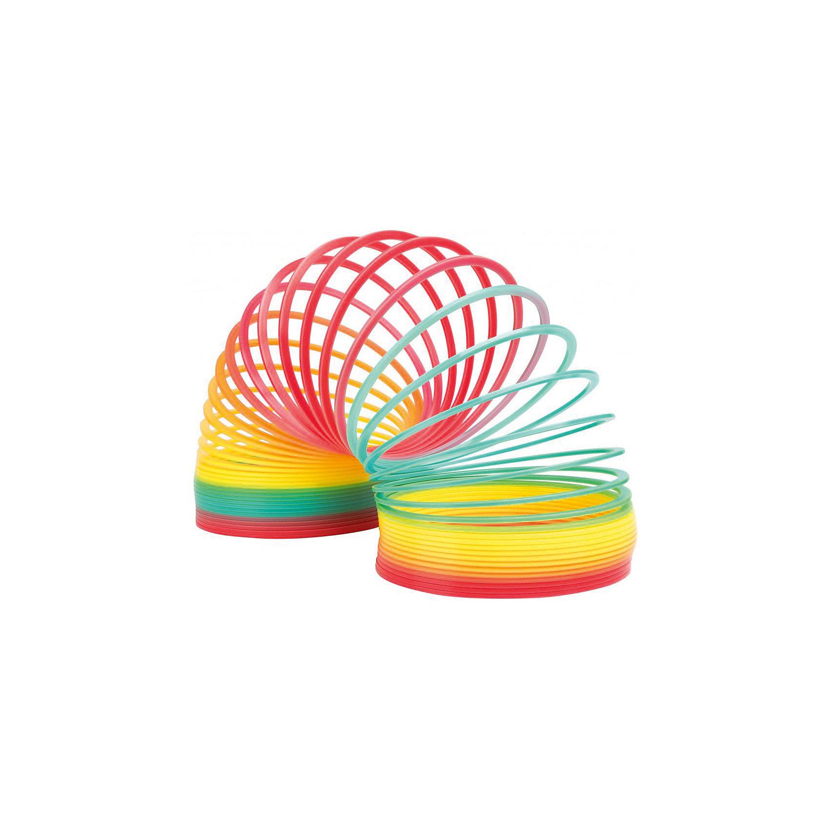 Пружинка  Радуга Гигант, SlinkyАнтистресс игрушки для рук<br>Характеристики:<br><br>• возраст: от 3 лет;<br>• цвет: разноцветная;<br>• сложность игры: 1/5;<br>• материал: пластик;<br>• количество игроков: 1;<br>• время игры: 10 мин.;<br>• диаметр пружинки: 13 см;<br>• вес упаковки:  445 г.;<br>• тип упаковки: картонное кольцо;<br>• размер упаковки: 13х13х14 см.<br>  <br>Самая большая пластиковая пружинка из выпускаемых компанией Slinky в диаметре составляет 13 см.<br><br>Специальный плоский профиль витков обеспечивает плавный и мягкий эффект перекатывания исключает возможность случайного запутывания во время игры. Эта пружинка «шагает» по лестнице намного шире, а тянется длиннее. <br><br>Цвета пружинки расположены в правильном порядке радуги, которые красиво переливаются во время движения. <br><br>Пружинку Радуга «Гигант», Slinky можно приобрести в нашем интернет-магазине<br><br>Ширина мм: 130<br>Глубина мм: 130<br>Высота мм: 130<br>Вес г: 450<br>Возраст от месяцев: 60<br>Возраст до месяцев: 2147483647<br>Пол: Унисекс<br>Возраст: Детский<br>SKU: 7029001