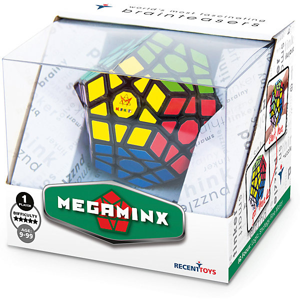 Головоломка Mefferts МегаминксГоловоломки Кубик Рубика<br>Характеристики:<br><br>• возраст: от 9 лет;<br>• сложность игры: «продвинутый» уровень;<br>• материал: пластик;<br>• количество игроков: 1;<br>• время игры: 30 мин.;<br>• размер упаковки 10,5х12х10 см;<br>• вес упаковки 280 г.;<br>• тип упаковки: картонная коробка.<br><br>Новинка 2017 - головоломка в форме додекаэдра. На ее поверхности 62 элемента, из которых 50 подвижных. Игрушка имеет 12 цветных сторон в форме пятиугольника, каждая из которых крутится вокруг своего центра. <br><br>Эта головоломка способна принимать большое количество возможных сочетаний. Структура каждой пятиугольной грани головоломки во многом аналогична квадратным граням кубика Рубика.<br><br>Мегаминкс собирают на соревнованиях по скоростной сборке.<br><br>Головоломку «Мегаминкс», Mefferts  можно приобрести в нашем интернет-магазине.<br>Ширина мм: 100; Глубина мм: 120; Высота мм: 105; Вес г: 280; Возраст от месяцев: 108; Возраст до месяцев: 2147483647; Пол: Унисекс; Возраст: Детский; SKU: 7029008;