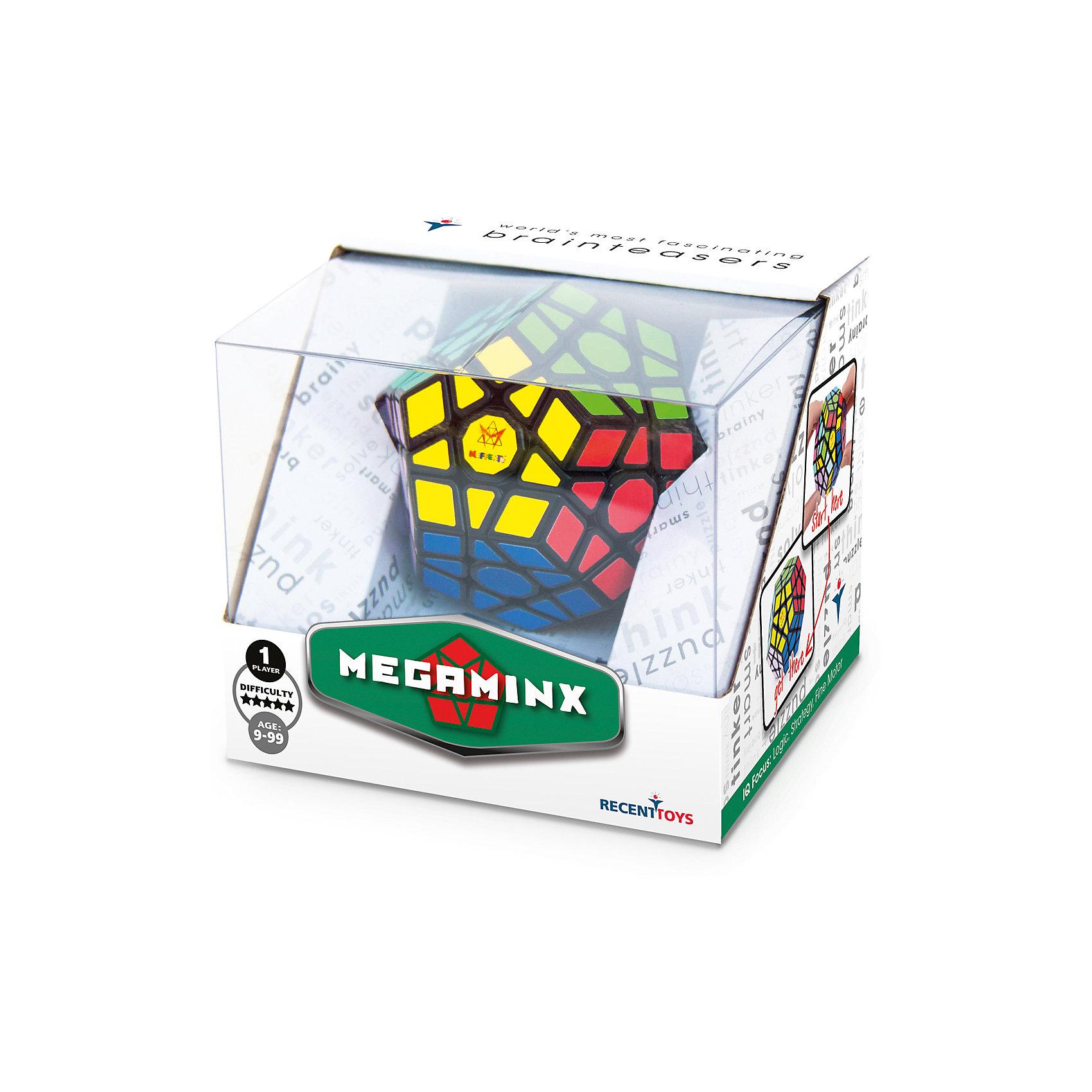 Головоломка Mefferts МегаминксОбъёмные головоломки<br>Новинка 2017.   Оригинальный Мегаминкс от Mefferts — головоломка в форме додекаэдра, которой есть чем удивить: на ее поверхности 62 элемента, из которых 50 подвижных  (у обычного кубика Рубика подвижно всего 20 элементов!); у нее 12 цветных сторон в форме пятиугольника, каждая из которых крутится вокруг своего центра.       Мегаминкс выглядит гораздо сложнее кубика Рубика, и действительно, эта головоломка способна принимать в миллиарды раз большее количество возможных сочетаний (примерно 1063 против 1019 у кубика Рубика). Однако, собрать Мегаминкс ненамного сложнее, чем стандартный кубик Рубика 3x3. Причина в том, что структура каждой пятиугольной грани головоломки во многом аналогична квадратным граням куба. В головоломке нет частей, которые бы не имели аналога в кубике Рубика. По-этому большинство техник и алгоритмов, применяемых для решения кубика 3х3, могут быть адаптированы и успешно применены к решению этого додекаэдра. Для человека, уже знакомого с классическим кубиком Рубика 3x3x3, Мегаминкс станет достойным вариантом перехода к головоломкам следующего уровня сложности.        Mefferts - фирма, которая первая разработала и запатентовала Мегаминкс. Головоломки от Mefferts являются основой и украшением любой коллекции механических головоломок, так как признаны во всем мире как классические. В Мегаминксе качество как всегда на высоте, ведь владелец компании Uwe Meffert - представитель старой школы, основательный человек немецкого происхождения, для которого качество изделий, носящих его имя, важнее всего.       Этот Megaminx справедливо заи?мет видное место в коллекции самого взыскательного поклонника головоломок!     Мегаминкс собирают на соревнованиях по скоростной сборке. Рекорд мира - чуть больше 30 секунд, а у кубика Рубика - менее 5 секунд!<br><br>Ширина мм: 100<br>Глубина мм: 120<br>Высота мм: 105<br>Вес г: 280<br>Возраст от месяцев: 108<br>Возраст до месяцев: 2147483647<br>Пол: Унисекс<br>Возраст: Де
