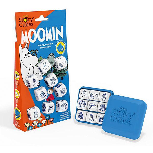 Настольная Игра Кубики Историй Муми-троллиИгры в дорогу<br>Характеристики:<br><br>• возраст: от 6 лет;<br>• сложность игры: средний уровень;<br>• материал: картон, пластик;<br>• количество игроков: 2-6;<br>• время игры: 30 мин.;<br>• вес упаковки: 169 г.;<br>• тип упаковки: цветная картонная коробка;<br>• размер упаковки: 4х11х21 см.<br>  <br>Версия игры для поклонников творчества Туве Янссон. Используя выпавшие картинки на кубиках (54 шт. с авторскими иллюстрациями), игрокам нужно составить историю о приключениях Мими-троллей. <br><br>В комплекте: <br>• 9 кубиков;<br>• компактная пластиковая коробочка для хранения (6х6х2см);<br>•  инструкция с названиями каждой из 54 картинок.  <br><br>Добрая игра помогает развивать фантазию, навыки речи у детей и тренирует память.<br><br>Настольную игру «Кубики Историй. Муми-тролли» можно приобрести в нашем интернет-магазине.<br>Ширина мм: 40; Глубина мм: 110; Высота мм: 210; Вес г: 180; Возраст от месяцев: 36; Возраст до месяцев: 2147483647; Пол: Унисекс; Возраст: Детский; SKU: 7029012;