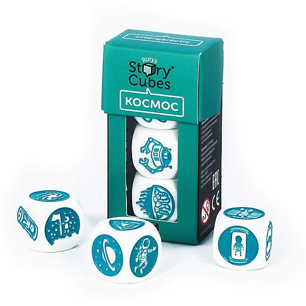 Настольная Игра Кубики Историй, доп. Набор КОСМОС (3 кубика)Игры в дорогу<br>Характеристики:<br><br>• возраст: от 6 лет;<br>• сложность игры: средний уровень;<br>• материал: картон, пластик;<br>• количество игроков: 2-6;<br>• время игры: 30 мин.;<br>• вес упаковки: 40 г.;<br>• тип упаковки: цветная картонная коробка;<br>• размер упаковки: 3х3,5х7 см.<br>  <br>Дополнительные кубики с картинками на тему «Космос» сделают рассказывание историй еще более интересным.<br><br>3 кубика набора «Космос» нужно добавить в основной набор Кубиков Историй, убрав при этом 3 других кубика. Либо, можно собрать свой собственный набор из 9 кубиков, состоящий из 3 мини-наборов.<br><br>Кубики Историй помогают развитию речи, учат формулировать мысли и продумывать структуру рассказа.        <br> <br> В комплекте: <br>• 3 кубика;<br>• картонная коробочка-контейнер.      <br><br>Настольную игру «Кубики Историй. Дополнительный набор «Космос» (3 кубика)» можно приобрести в нашем интернет-магазине.<br>Ширина мм: 35; Глубина мм: 30; Высота мм: 75; Вес г: 50; Возраст от месяцев: 36; Возраст до месяцев: 2147483647; Пол: Унисекс; Возраст: Детский; SKU: 7029013;