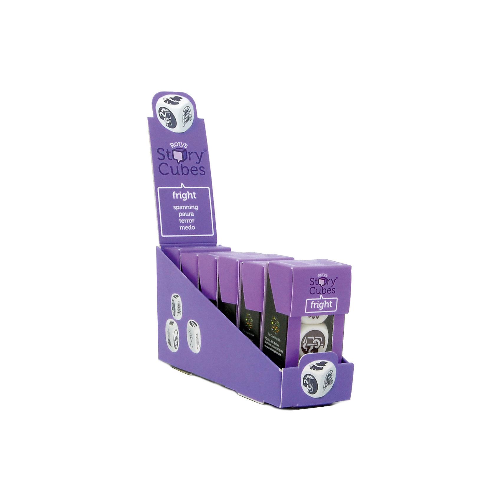 Настольная Игра Кубики Историй, доп. Набор Ужастики (3 кубика)Игры в дорогу<br>Характеристики:<br><br>• возраст: от 6 лет;<br>• сложность игры: средний уровень;<br>• материал: картон, пластик;<br>• количество игроков: 2-6;<br>• время игры: 30 мин.;<br>• вес упаковки: 40 г.;<br>• тип упаковки: цветная картонная коробка;<br>• размер упаковки: 3х3,5х7 см.<br>  <br>Дополнительные кубики с картинками на тему «Ужастики» сделают рассказывание историй еще более интересным.<br><br>3 кубика набора «Ужастики» нужно добавить в основной набор Кубиков Историй, убрав при этом 3 других кубика. Либо, можно собрать свой собственный набор из 9 кубиков, состоящий из 3 мини-наборов.<br><br>Кубики Историй помогают развитию речи, учат формулировать мысли и продумывать структуру рассказа.        <br> <br> В комплекте: <br>• 3 кубика;<br>• картонная коробочка-контейнер.      <br><br>Настольную игру «Кубики Историй. Дополнительный набор «Ужастики» (3 кубика)» можно приобрести в нашем интернет-магазине.<br><br>Ширина мм: 35<br>Глубина мм: 30<br>Высота мм: 75<br>Вес г: 50<br>Возраст от месяцев: 84<br>Возраст до месяцев: 2147483647<br>Пол: Унисекс<br>Возраст: Детский<br>SKU: 7029014