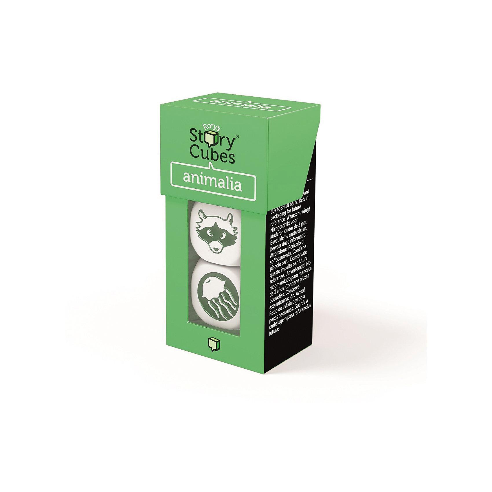 Настольная Игра Кубики Историй, доп. Набор Животные (3 кубика)Игры в дорогу<br>Характеристики:<br><br>• возраст: от 6 лет;<br>• сложность игры: средний уровень;<br>• материал: картон, пластик;<br>• количество игроков: 2-6;<br>• время игры: 30 мин.;<br>• вес упаковки: 40 г.;<br>• тип упаковки: цветная картонная коробка;<br>• размер упаковки: 3х3,5х7 см.<br>  <br>Дополнительные кубики с картинками на тему «Животные» сделают рассказывание историй еще более интересным.<br><br>3 кубика набора «Животные» нужно добавить в основной набор Кубиков Историй, убрав при этом 3 других кубика. Либо, можно собрать свой собственный набор из 9 кубиков, состоящий из 3 мини-наборов.<br><br>Кубики Историй помогают развитию речи, учат формулировать мысли и продумывать структуру рассказа.        <br> <br> В комплекте: <br>• 3 кубика;<br>• картонная коробочка-контейнер.      <br><br>Настольную игру «Кубики Историй. Дополнительный набор «Животные» (3 кубика)» можно приобрести в нашем интернет-магазине.<br><br>Ширина мм: 35<br>Глубина мм: 30<br>Высота мм: 75<br>Вес г: 50<br>Возраст от месяцев: 36<br>Возраст до месяцев: 2147483647<br>Пол: Унисекс<br>Возраст: Детский<br>SKU: 7029015