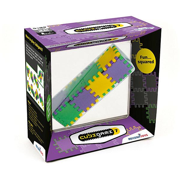 Головоломка Recent Toys Куби-ГамиГоловоломки Кубик Рубика<br>Характеристики:<br><br>• возраст: от 8 лет;<br>• сложность игры: средний уровень;<br>• материал: пластик;<br>• количество игроков: 1;<br>• время игры: 30 мин.;<br>• вес упаковки: 200 г.;<br>• размер одного элемента: 4х4 см;<br>• размер собранной головоломки: 4х4х16 см;<br>• тип упаковки: картонная коробка;<br>• размер упаковки: 19х19х19 см.<br><br>Геометрическая головоломка «Куби-Гами 7» – развивающая логическая игра.<br><br>Это творческая головоломка, в которой нужно собрать все 7 возможных 3D-форм из 18 квадратных элементов-плиток, скрепленных между собой шарнирами. Нужно найти комбинации для всех 7 кубических конструкций.<br><br>Головоломка понравится творческим детям и взрослым, любящим создавать различные фигуры и конструкции.<br><br>Головоломку «Куби-Гами», Recent Toys можно приобрести в нашем интернет-магазине.<br><br>Ширина мм: 190<br>Глубина мм: 60<br>Высота мм: 190<br>Вес г: 300<br>Возраст от месяцев: 60<br>Возраст до месяцев: 2147483647<br>Пол: Унисекс<br>Возраст: Детский<br>SKU: 7029018
