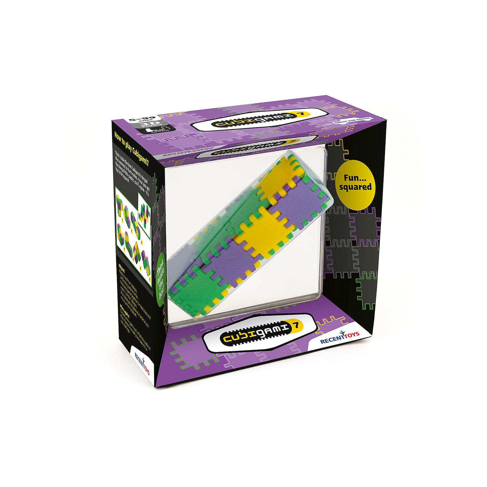 Головоломка Recent Toys Куби-ГамиОбъёмные головоломки<br>Характеристики:<br><br>• возраст: от 8 лет;<br>• сложность игры: средний уровень;<br>• материал: пластик;<br>• количество игроков: 1;<br>• время игры: 30 мин.;<br>• вес упаковки: 200 г.;<br>• размер одного элемента: 4х4 см;<br>• размер собранной головоломки: 4х4х16 см;<br>• тип упаковки: картонная коробка;<br>• размер упаковки: 19х19х19 см.<br><br>Геометрическая головоломка «Куби-Гами 7» – развивающая логическая игра.<br><br>Это творческая головоломка, в которой нужно собрать все 7 возможных 3D-форм из 18 квадратных элементов-плиток, скрепленных между собой шарнирами. Нужно найти комбинации для всех 7 кубических конструкций.<br><br>Головоломка понравится творческим детям и взрослым, любящим создавать различные фигуры и конструкции.<br><br>Головоломку «Куби-Гами», Recent Toys можно приобрести в нашем интернет-магазине.<br><br>Ширина мм: 190<br>Глубина мм: 60<br>Высота мм: 190<br>Вес г: 300<br>Возраст от месяцев: 60<br>Возраст до месяцев: 2147483647<br>Пол: Унисекс<br>Возраст: Детский<br>SKU: 7029018