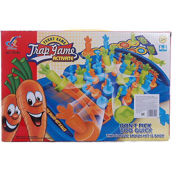 Настольная игра Супер морковкаНастольные игры для всей семьи<br>Настольная игра для детей от 3 лет<br>Количество игроков: 2-6<br>После расстановки морковок каждый игрок по очереди вытаскивает морковку в соответствии со своей карточкой<br>Проигравшим <br>считается тот игрок, <br>на котором сработала <br>пружина<br>Игра способствует <br>развитию логического<br>мышления, координации и ловкости<br>В игровой форме знакомит малышей с цифрами<br><br>Ширина мм: 330<br>Глубина мм: 215<br>Высота мм: 45<br>Вес г: 150<br>Возраст от месяцев: 36<br>Возраст до месяцев: 2147483647<br>Пол: Унисекс<br>Возраст: Детский<br>SKU: 7029050
