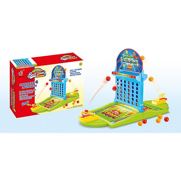 Настольная игра Четыре в рядСтратегические настольные игры<br>Настольная игра для детей от 3 лет<br>Количество игроков: 2<br>С помощью катапульты необходимо закидывать шары на игровое поле таким образом, чтобы выстроить линию из 4 одноцветных шаров<br>Побеждает игрок, который соберет больше одноцветных комбинаций<br>Игра способствует развитию логики, моторики и меткости<br><br>Ширина мм: 355<br>Глубина мм: 240<br>Высота мм: 90<br>Вес г: 150<br>Возраст от месяцев: 36<br>Возраст до месяцев: 2147483647<br>Пол: Унисекс<br>Возраст: Детский<br>SKU: 7029051