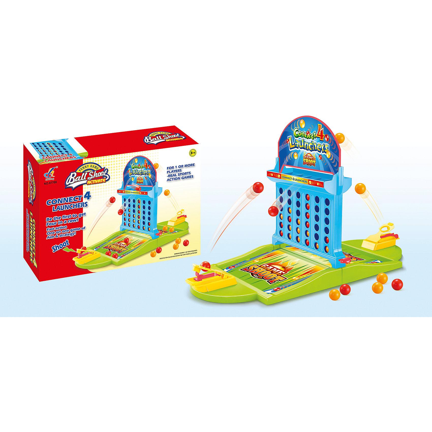 Настольная игра Четыре в рядСтратегические настольные игры<br>Настольная игра для детей от 3 лет<br>Количество игроков: 2<br>С помощью катапульты необходимо закидывать шары на игровое поле таким образом, чтобы выстроить линию из 4 одноцветных шаров<br>Побеждает игрок, который соберет больше одноцветных комбинаций<br>Игра способствует развитию логики, моторики и меткости<br><br>Ширина мм: 355<br>Глубина мм: 240<br>Высота мм: 90<br>Вес г: 9999<br>Возраст от месяцев: 36<br>Возраст до месяцев: 2147483647<br>Пол: Унисекс<br>Возраст: Детский<br>SKU: 7029051