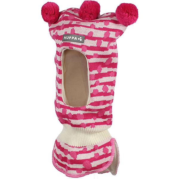 Шапка-шлем Huppa Coco для девочкиГоловные уборы<br>Характеристики товара:<br><br>• модель: Coco;<br>• цвет: розовый в полоску;<br>• состав: 50% шерсть, 50% полиакрил;<br>• подкладка: 100% хлопок;<br>• сезон: зима;<br>• температурный режим: от +5 до - 30С;<br>• шапка с тремя помпонами сверху;<br>• особенности: вязаная, шерстяная;<br>• страна бренда: Финляндия;<br>• страна изготовитель: Эстония.<br><br>Шапка-шлем Хуппа с тремя помпонами. Подкладка выполнена из хлопкового трикотажа, наружная ткань - это 50% мериносовой шерсти и 50% акриловой пряжи. Шапка-шлем идеальна для ношения в зимние холода, потому что защищает шею и уши ребенка от холодного ветра.<br><br>Шапку-шлем Huppa Coco (Хуппа) можно купить в нашем интернет-магазине.<br>Ширина мм: 89; Глубина мм: 117; Высота мм: 44; Вес г: 155; Цвет: фуксия; Возраст от месяцев: 3; Возраст до месяцев: 12; Пол: Женский; Возраст: Детский; Размер: 43-45,51-53,47-49; SKU: 7029360;