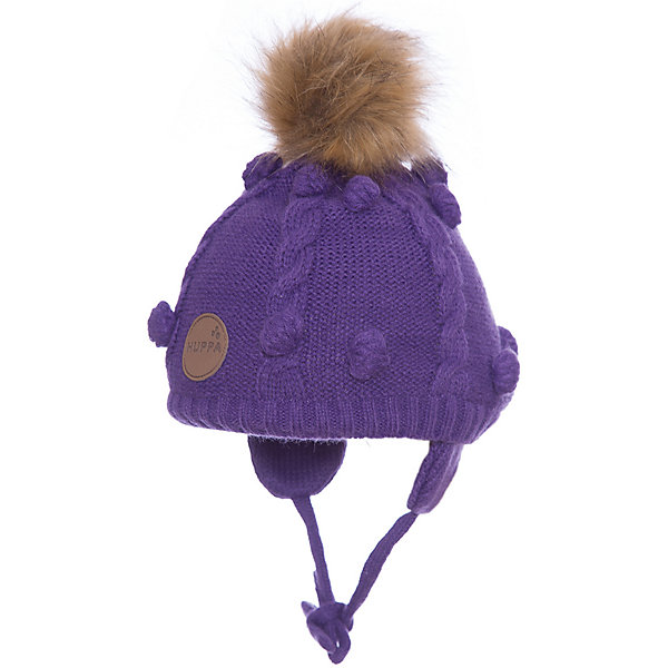 Шапка Huppa Macy для девочкиЗимние<br>Характеристики товара:<br><br>• модель: Macy;<br>• цвет: фиолетовый;<br>• состав: шапка: 100% акрил; <br>• подкладка: 100% хлопок:<br>• температурный режим: от 0°С до -20°С;<br>• шапка на завязках;<br>• помпон из искусственного меха на макушке;<br>• особенности: вязаная, с помпоном;<br>• страна бренда: Финляндия;<br>• страна изготовитель: Эстония.<br><br>Вязаная детская шапка Macy. Теплая вязанная шапочка, прекрасно подойдет для повседневных прогулок в холодную погоду. Шапка изготовлена из 100% акрила, с хлопковой подкладкой. <br><br>Шапку Huppa Macy (Хуппа) можно купить в нашем интернет-магазине.<br>Ширина мм: 89; Глубина мм: 117; Высота мм: 44; Вес г: 155; Цвет: лиловый; Возраст от месяцев: 3; Возраст до месяцев: 12; Пол: Женский; Возраст: Детский; Размер: 43-45,55-57,47-49,51-53; SKU: 7029419;