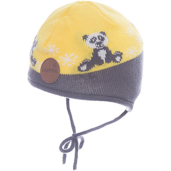 Шапка Huppa Karro 1 для мальчикаЗимние<br>Характеристики товара:<br><br>• модель: Karro 1;<br>• цвет: желтый/серый;<br>• состав: шапка: 100% акрил; <br>• подкладка: 100% хлопок:<br>• утеплитель: 40 г/м2;<br>• сезон: зима<br>• температурный режим: от 0°С до -20°С;<br>• шапка на завязках;<br>• особенности: вязаная;<br>• страна бренда: Финляндия;<br>• страна изготовитель: Эстония.<br><br>Вязаная детская шапка Karro 1. Теплая вязанная шапочка, прекрасно подойдет для повседневных прогулок в холодную погоду. Шапка на мягкий завязках, не травмирующих нежную кожу.<br><br>Шапку Huppa Karro 1 (Хуппа) можно купить в нашем интернет-магазине.<br>Ширина мм: 89; Глубина мм: 117; Высота мм: 44; Вес г: 155; Цвет: желтый; Возраст от месяцев: 3; Возраст до месяцев: 12; Пол: Мужской; Возраст: Детский; Размер: 43-45,51-53,47-49; SKU: 7029440;
