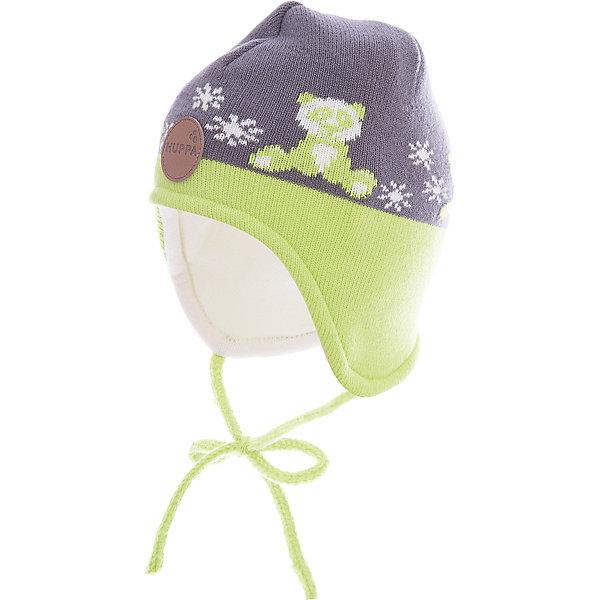 Шапка Huppa Karro 1 для мальчикаЗимние<br>Характеристики товара:<br><br>• модель: Karro 1;<br>• цвет: серый/зеленый;<br>• состав: шапка: 100% акрил; <br>• подкладка: 100% хлопок:<br>• утеплитель: 40 г/м2;<br>• сезон: зима<br>• температурный режим: от 0°С до -20°С;<br>• шапка на завязках;<br>• особенности: вязаная;<br>• страна бренда: Финляндия;<br>• страна изготовитель: Эстония.<br><br>Вязаная детская шапка Karro 1. Теплая вязанная шапочка, прекрасно подойдет для повседневных прогулок в холодную погоду. Шапка на мягкий завязках, не травмирующих нежную кожу.<br><br>Шапку Huppa Karro 1 (Хуппа) можно купить в нашем интернет-магазине.<br><br>Ширина мм: 89<br>Глубина мм: 117<br>Высота мм: 44<br>Вес г: 155<br>Цвет: серый<br>Возраст от месяцев: 3<br>Возраст до месяцев: 12<br>Пол: Мужской<br>Возраст: Детский<br>Размер: 43-45,51-53,47-49<br>SKU: 7029448