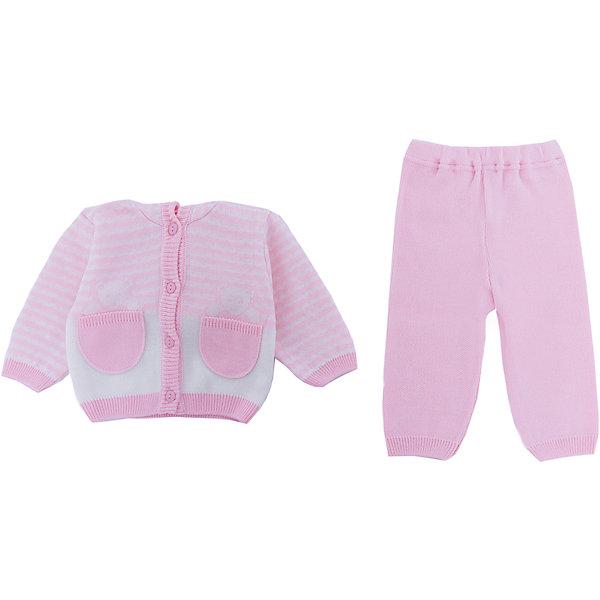 Комплект  Мишка в кармане Уси-Пуси для девочкиФлис и термобелье<br>Характеристики товара:<br><br>• цвет: розовый;<br>• ткань: вязаная;<br>• пол: девочка;<br>• состав ткани: 50% шерсть, 50% пан;<br>• вид застежки: пуговицы;<br>• особенности модели: вязаная, с рисунком;<br>• сезон: демисезон;<br>• страна бренда: Россия;<br>• страна изготовитель: Россия.<br> <br>Комплект детский вязанный (брючки, кофточка) «Мишка в кармане» выполнен из мягкой пряжи. Комплек с открытыми ручками и ножками,с капюшоном, застежка пуговицы, рисунок в полоску.<br><br>Два карманчика, из которых выглядывают медвежатки, делают модель необычной. Детский комплект подойдет для любого времени года: его можно носить как летом, так и зимой.<br><br>Комплект детский вязанный «Мишка в кармане» Уси-Пуси для девочки можно купить в нашем интернет-магазине.<br>Ширина мм: 157; Глубина мм: 13; Высота мм: 119; Вес г: 200; Цвет: розовый; Возраст от месяцев: 3; Возраст до месяцев: 6; Пол: Женский; Возраст: Детский; Размер: 62/68,80/86,74/80,68/74; SKU: 7029580;