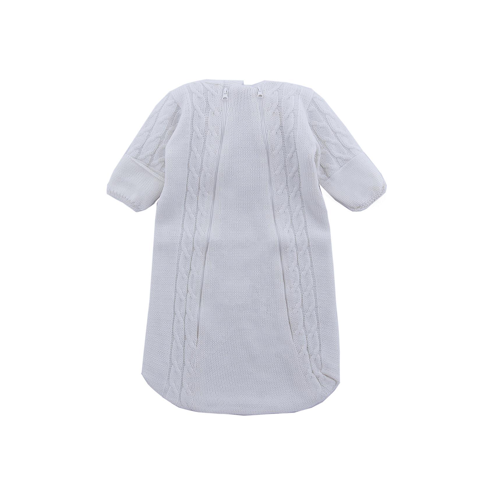 Комбинезон (конверт)  Косы Уси-ПусиКомбинезоны<br>Характеристики товара:<br><br>• цвет: молочный;<br>• ткань: вязаная;<br>• состав ткани: 50% шерсть, 50% пан, внутр. слой 100%хлопок;<br>• утеплитель: без утеплителя;<br>• вид застежки: на молнии;<br>• особенности модели: вязаная, с рисунком;<br>• сезон: демисезон;<br>• страна бренда: Россия;<br>• страна изготовитель: Россия.<br><br>Вязаный конветр для новородженных с подкладкой из 100% хлопка отлично подойдет для выписки из роддома.<br><br>Верхняя ткань выполнена из нитей шерсти и ПАНа. Его можно использовать круглый год: зимой под зимний конветр, а летом при прохладной погоде. Наличие двух молний на конверте позволяют быстро одеть ребенка на прогулку или переодеть малыша при необходимости. <br><br>Вязаный конветр «Косы» Уси-Пуси можно купить в нашем интернет-магазине.<br><br>Ширина мм: 157<br>Глубина мм: 13<br>Высота мм: 119<br>Вес г: 200<br>Цвет: белый<br>Возраст от месяцев: 3<br>Возраст до месяцев: 6<br>Пол: Унисекс<br>Возраст: Детский<br>Размер: 62/68,50/56,56/62<br>SKU: 7029636