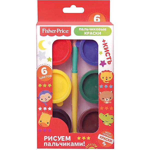 Пальчиковые краски Fisher Price 6 цветовПальчиковые краски<br>Характеристики товара:<br><br>• в комплекте: 6 баночек по 25 мл (6 цветов), кисть;<br>• возраст: от 3 лет;<br>• размер упаковки: 3х12х24 см;<br>• вес: 281 грамм;<br>• страна бренда: США;<br>• страна производитель: Китай.<br><br>Пальчиковые краски Fisher Price позволят маленькому художнику нарисовать самые прекрасные картины с помощью своих пальчиков. При желании малыш сможет воспользоваться кисточкой, губкой или спонжем. Краски выполнены в ярких цветах. Они хорошо смешиваются, не выцветают на солнце и легко смываются с рук и одежды. Краски изготовлены из натуральных компонентов, благодаря чему они полностью безопасны для ребенка.<br><br>Пальчиковые краски Fisher Price (Фишер Прайс) 6 цветов можно купить в нашем интернет-магазине.<br><br>Ширина мм: 235<br>Глубина мм: 120<br>Высота мм: 35<br>Вес г: 281<br>Возраст от месяцев: 0<br>Возраст до месяцев: 72<br>Пол: Унисекс<br>Возраст: Детский<br>SKU: 7029900