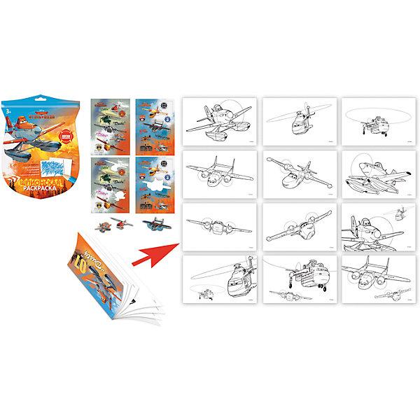 Набор для рисования Раскраска шпиона Disney СамолетыНаборы для раскрашивания<br>Характеристики товара:<br><br>• в комплекте: 6 карандашей, 2 секретных листа, 20 наклеек, раскраска-книжка;<br>• возраст: от 6 лет;<br>• размер упаковки: 25х19,5х1 см;<br>• вес: 75 грамм.<br><br>Раскраска шпиона - прекрасный вариант для детей, любящих раскрывать тайны и секреты. В набор входят карандаши, листы с проявляющимися рисунками, раскраска и наклейки. Увлекательное творчество сможет надолго занять ребенка, ведь разгадывать загадки Самолетов, раскрашивать любимых героев и украшать их наклейками очень увлекательно.<br><br>Набор для рисования Раскраска шпиона Disney (Дисней) Самолеты можно купить в нашем интернет-магазине.<br>Ширина мм: 180; Глубина мм: 10; Высота мм: 245; Вес г: 73; Возраст от месяцев: 72; Возраст до месяцев: 108; Пол: Мужской; Возраст: Детский; SKU: 7029905;