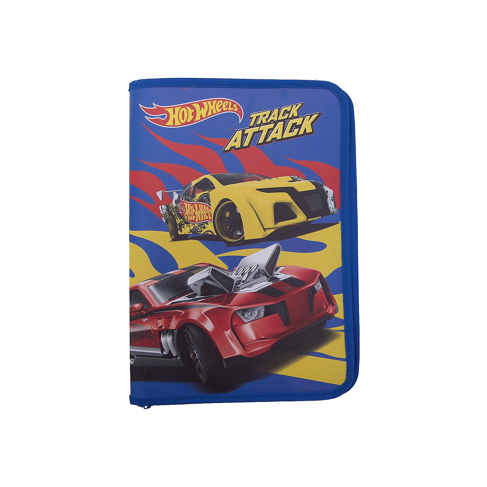 Папка пластиковая для труда А4 на молнии Mattel Hot WheelsПапки для труда<br>Характеристики товара:<br><br>• количество отделений: 1;<br>• застежка: молния;<br>• цвет: синий/красный;<br>• возраст: от 7 лет;<br>• размер: 23х33 см;<br>• формат: А4;<br>• материал: полипропилен;<br>• размер упаковки: 23х33х2,5 см;<br>• вес: 108 грамм;<br>• страна бренда: США;<br>• страна производитель: Китай.<br><br>Яркая папка с дизайном любимых Hot Wheels станет надежным помощником на уроках труда. Папка состоит из одного отделения, застегивается на трехстороннюю молнию. Изделие выполнено из прочного пластика с обрамлением из плотного капрона. Формат папки - А4.<br><br>Папку пластиковую для труда А4 на молнии Mattel Hot Wheels (Маттел Хот Вилс) можно купить в нашем интернет-магазине.<br><br>Ширина мм: 230<br>Глубина мм: 330<br>Высота мм: 25<br>Вес г: 108<br>Возраст от месяцев: 36<br>Возраст до месяцев: 108<br>Пол: Мужской<br>Возраст: Детский<br>SKU: 7029917