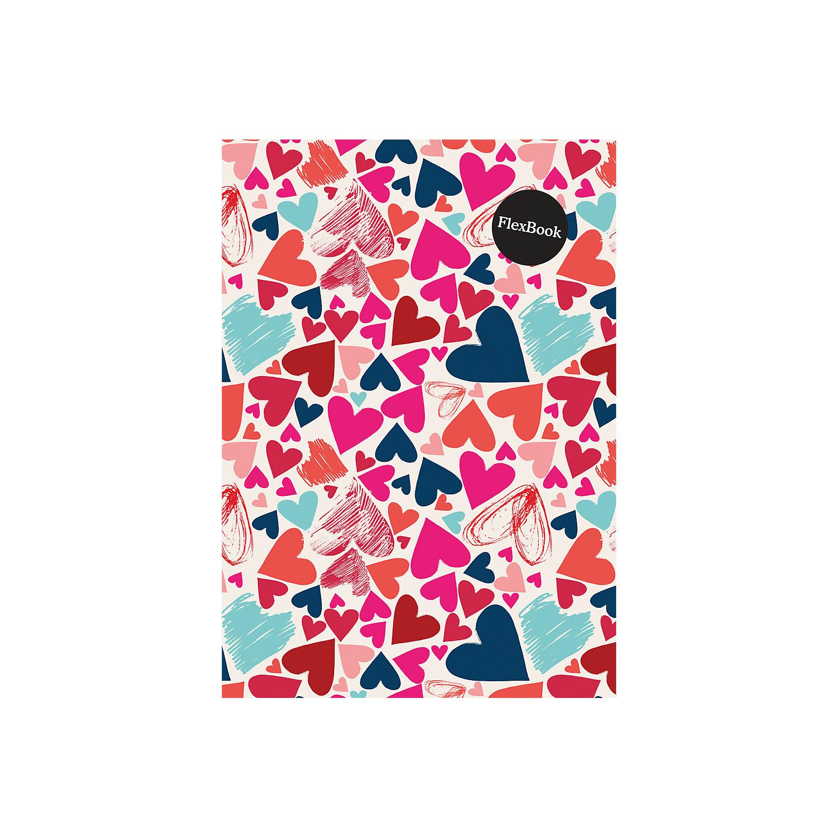Тетрадь А4 60листов Flex Book HeartsБумажная продукция<br>Характеристики товара:<br><br>• количество листов: 60;<br>• формат: А4;<br>• линовка: клетка;<br>• возраст: от 15 лет;<br>• размер: 21х30 см;<br>• размер упаковки: 21х30х0,5 см;<br>• вес: 279 грамм.<br><br>Тетрадь Hearts отлично подойдет для студентов и учащихся старших классов. Благодаря специальной японской технологии Seihon тетрадь можно сгибать, разворачивать на 360 градусов, скручивать и складывать. Обложка из мелованного картона защитит внутренний блок и поможет продлить срок службы тетради. Подходит для левшей.<br><br>Тетрадь А4 60листов «Flex Book» Hearts можно купить в нашем интернет-магазине.<br><br>Ширина мм: 300<br>Глубина мм: 210<br>Высота мм: 5<br>Вес г: 279<br>Возраст от месяцев: 84<br>Возраст до месяцев: 2147483647<br>Пол: Унисекс<br>Возраст: Детский<br>SKU: 7029921