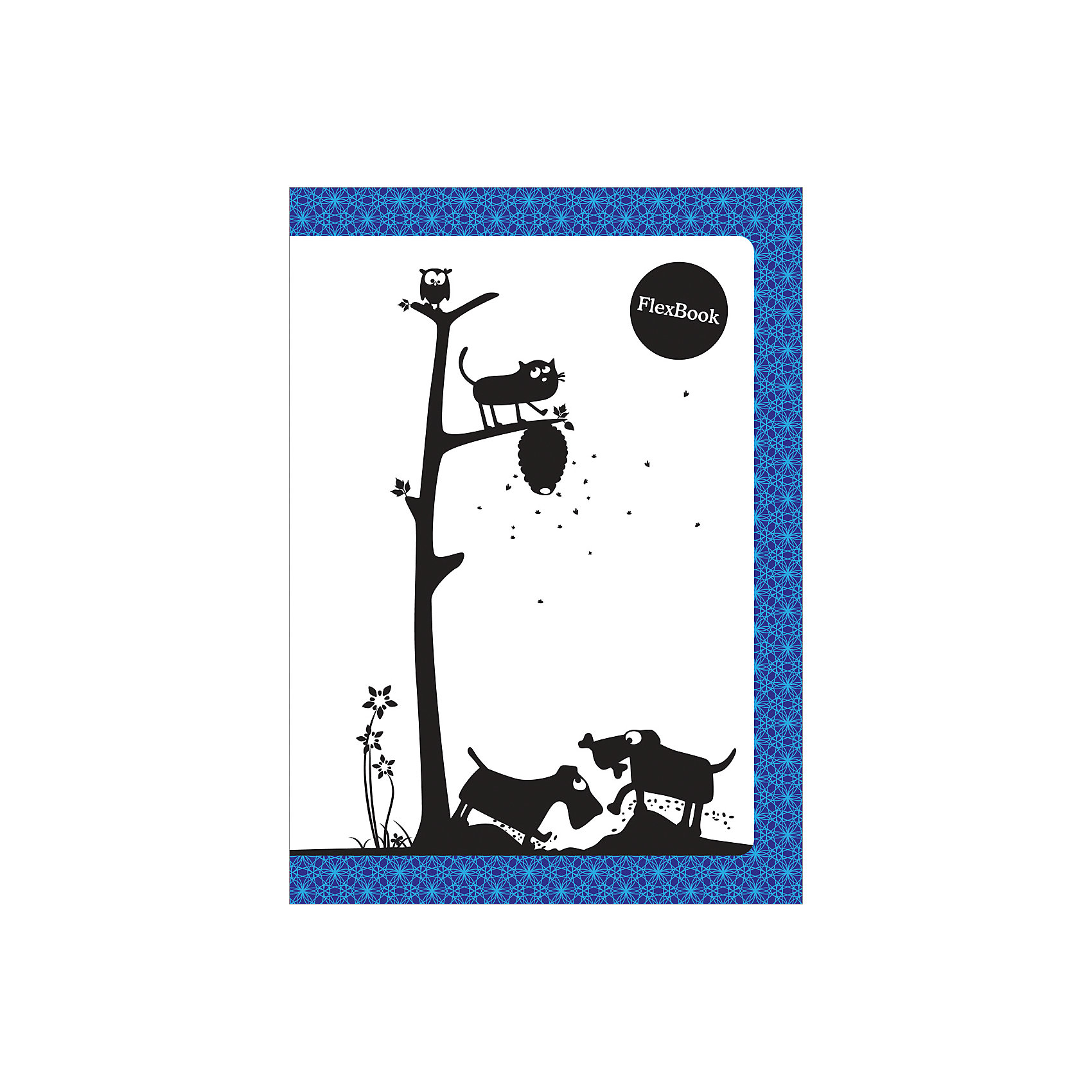 Тетрадь А5 60листов Flex Book Animals синБумажная продукция<br>Тетрадь Flex Book с дизайнами Animals выполнена по инновационной технологии переплета, основанная на японской технологии Seihon, позволяет разворачивать тетрадь на 360 градусов. Формат тетради А5, внутренний блок тетради 60 листов в клетку. Мелованная картонная обложка увеличивает срок службы тетради. Flex Book идеально подходит для левшей. Сгибается, скручивается и складывается не ломаясь.<br><br>Ширина мм: 210<br>Глубина мм: 145<br>Высота мм: 5<br>Вес г: 144<br>Возраст от месяцев: 84<br>Возраст до месяцев: 2147483647<br>Пол: Унисекс<br>Возраст: Детский<br>SKU: 7029922