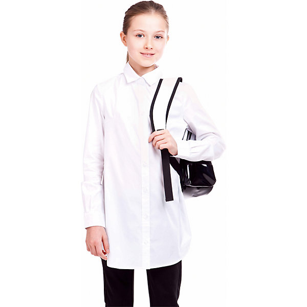 Блузка Gulliver для девочкиБлузки и рубашки<br>Какими должны быть красивые блузки для девочек? Приталенными или прямыми, строгими или с декором, с рисунком или без? Школьные блузки 2017 могут быть разными! В том числе, удлиненными, свободного силуэта, которые носятся только навыпуск. Белая школьная блузка сделает образ свежим, интересным, необычным и подарит бесконечный комфорт. К тому же, она идеально подходит девочкам с нестандартной фигурой, гарантируя прекрасный внешний вид и уверенность в себе. Купить школьную блузку свободного силуэта стоит в сочетании с темными школьными брюками. И в будни, и в праздники такой комплект будет смотреться стильно, свежо, интересно.<br>Состав:<br>68%хлопок, 29% полиэстер, 3%эластан<br>Ширина мм: 186; Глубина мм: 87; Высота мм: 198; Вес г: 197; Цвет: белый; Возраст от месяцев: 72; Возраст до месяцев: 84; Пол: Женский; Возраст: Детский; Размер: 122,146,140,134,128; SKU: 7029951;