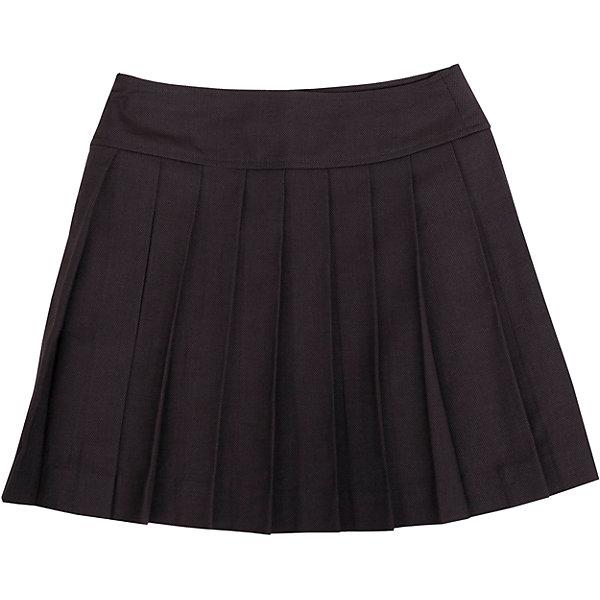 Юбка Gulliver для девочкиЮбки<br>Какие юбки для девочек школьные правила позволяют считать лучшими в гардеробе ученицы? Прямые, трапециевидные, баллонообразные... При всем богатстве выбора, строгая и элегантная классика, юбка в складку, всегда выглядит изящно и стильно. Эта модель вне времени и вне моды! Именно такими и должны быть юбки для школы - красивыми и удобными, прекрасно сочетающимися с любым верхом. Хороший состав и качество ткани обеспечивает юбке достойный  внешний вид, долговечность и неприхотливость в уходе. Асимметричная застежка придает модели индивидуальные черты, делая ее интересной и выразительной.<br>Состав:<br>тк. верха: 65% полиэстер, 23% вискоза, 10% шерсть, 2% эластан подкл.: 100% полиэстер<br>Ширина мм: 207; Глубина мм: 10; Высота мм: 189; Вес г: 183; Цвет: серый; Возраст от месяцев: 72; Возраст до месяцев: 84; Пол: Женский; Возраст: Детский; Размер: 122,140,134,128; SKU: 7030046;