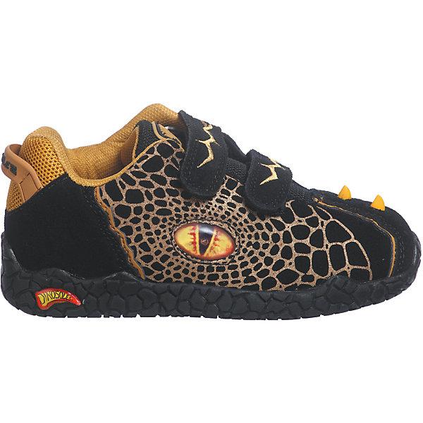 Ботинки для мальчика DinosolesБотинки<br>Ботинки для мальчика Dinosoles<br><br>Состав верх: нат. кожа/замша, подклад: текстиль, подошва: резина<br><br> Dinosoles - единственная в мире детcкая обувь с трехмерным изображением динозавров. Натуральные материалы, отобранные коллекции, 3D дизайн, горящие глаза, фирменная подошва, оставляющая след динозавра, приводят всех в восторг! Dinosoles - Динозавры возвращаются. The USA.<br><br>Cтрана бренда: США <br>Размер обуви производителя  US : US 10<br>Длина по стельке в мм: 175<br><br>Ширина мм: 262<br>Глубина мм: 176<br>Высота мм: 97<br>Вес г: 427<br>Цвет: черный<br>Возраст от месяцев: 36<br>Возраст до месяцев: 48<br>Пол: Мужской<br>Возраст: Детский<br>Размер: 27,33,32,31,30,29,28<br>SKU: 7030303