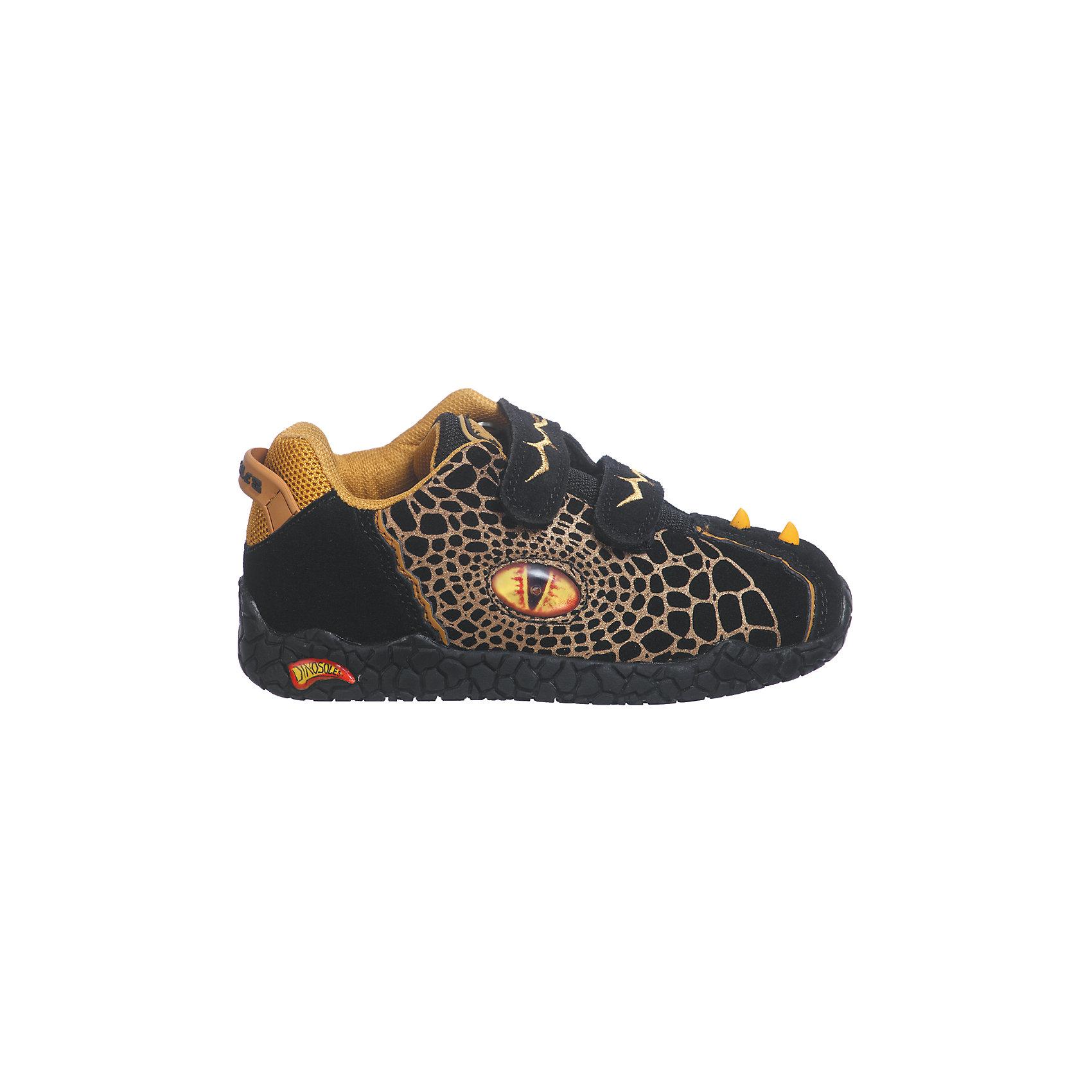 Ботинки для мальчика DinosolesБотинки<br>Ботинки для мальчика Dinosoles<br><br>Состав верх: нат. кожа/замша, подклад: текстиль, подошва: резина<br><br> Dinosoles - единственная в мире детcкая обувь с трехмерным изображением динозавров. Натуральные материалы, отобранные коллекции, 3D дизайн, горящие глаза, фирменная подошва, оставляющая след динозавра, приводят всех в восторг! Dinosoles - Динозавры возвращаются. The USA.<br><br>Cтрана бренда: США <br>Размер обуви производителя  US : US 10<br>Длина по стельке в мм: 175<br><br>Ширина мм: 262<br>Глубина мм: 176<br>Высота мм: 97<br>Вес г: 427<br>Цвет: черный<br>Возраст от месяцев: 108<br>Возраст до месяцев: 120<br>Пол: Мужской<br>Возраст: Детский<br>Размер: 33,27,28,29,30,31,32<br>SKU: 7030303