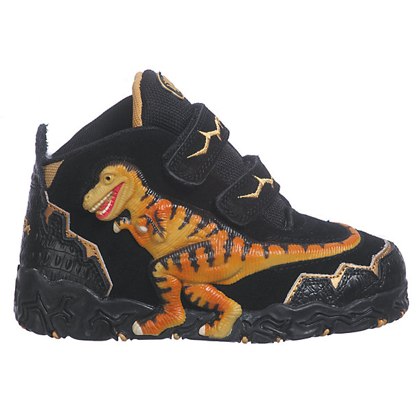 Ботинки для мальчика DinosolesБотинки<br>Ботинки для мальчика Dinosoles<br><br>Состав верх: нат. кожа/замша, подклад: текстиль, подошва: резина<br><br> Dinosoles - единственная в мире детcкая обувь с трехмерным изображением динозавров. Натуральные материалы, отобранные коллекции, 3D дизайн, горящие глаза, фирменная подошва, оставляющая след динозавра, приводят всех в восторг! Dinosoles - Динозавры возвращаются. The USA.<br><br>Cтрана бренда: США <br>Размер обуви производителя  US : US 10<br>Длина по стельке в мм: 175<br><br>Ширина мм: 262<br>Глубина мм: 176<br>Высота мм: 97<br>Вес г: 427<br>Цвет: черный<br>Возраст от месяцев: 108<br>Возраст до месяцев: 120<br>Пол: Мужской<br>Возраст: Детский<br>Размер: 33,27,32,31,30,29,28<br>SKU: 7030311