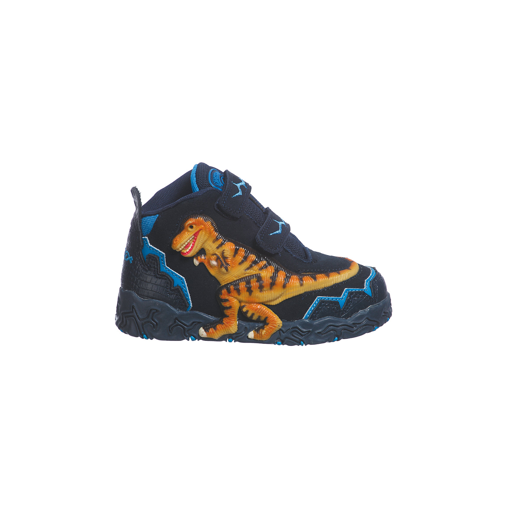Ботинки для мальчика DinosolesБотинки<br>Ботинки для мальчика Dinosoles<br><br>Состав верх: нат. кожа/замша, подклад: текстиль, подошва: резина<br><br> Dinosoles - единственная в мире детcкая обувь с трехмерным изображением динозавров. Натуральные материалы, отобранные коллекции, 3D дизайн, горящие глаза, фирменная подошва, оставляющая след динозавра, приводят всех в восторг! Dinosoles - Динозавры возвращаются. The USA.<br><br>Cтрана бренда: США <br>Размер обуви производителя  US : US 10<br>Длина по стельке в мм: 175<br><br>Ширина мм: 262<br>Глубина мм: 176<br>Высота мм: 97<br>Вес г: 427<br>Цвет: синий<br>Возраст от месяцев: 108<br>Возраст до месяцев: 120<br>Пол: Мужской<br>Возраст: Детский<br>Размер: 33,27,28,29,30,31,32<br>SKU: 7030319