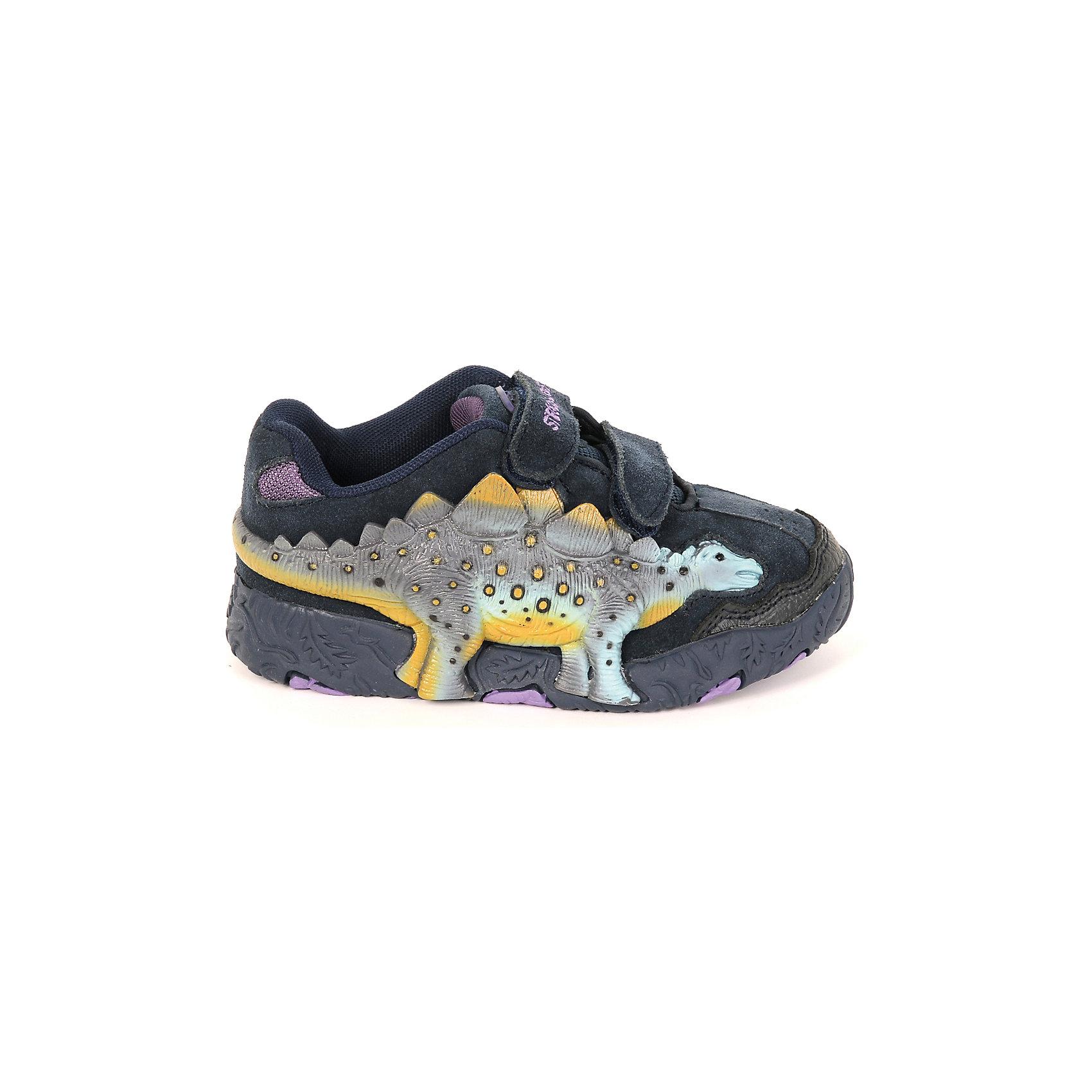 Ботинки для мальчика DinosolesБотинки<br>Ботинки для мальчика Dinosoles<br><br>Состав верх: нат. кожа/замша, подклад: текстиль, подошва: резина<br><br> Dinosoles - единственная в мире детcкая обувь с трехмерным изображением динозавров. Натуральные материалы, отобранные коллекции, 3D дизайн, горящие глаза, фирменная подошва, оставляющая след динозавра, приводят всех в восторг! Dinosoles - Динозавры возвращаются. The USA.<br><br>Cтрана бренда: США <br>Размер обуви производителя  US : US 10<br>Длина по стельке в мм: 175<br><br>Ширина мм: 262<br>Глубина мм: 176<br>Высота мм: 97<br>Вес г: 427<br>Цвет: синий<br>Возраст от месяцев: 36<br>Возраст до месяцев: 48<br>Пол: Мужской<br>Возраст: Детский<br>Размер: 27,33,32,31,30,29,28<br>SKU: 7030327