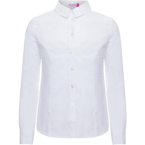 Блуза SELA для девочкиБлузки и рубашки<br>Характеристики товара:<br><br>• цвет: белый<br>• состав ткани: 55% хлопок, 45% полиэстер<br>• сезон: демисезон<br>• особенности модели: школьная, нарядная<br>• застежка: пуговицы<br>• длинные рукава<br>• страна бренда: Россия<br>• страна производства: Китай<br><br>Блузка для девочки отличается классическим дизайном. Белая блуза для девочки - базовая вещь для гардероба. Такая блуза для ребенка сшита из легкого хлопкового материала. Модели от Sela стильные и удобные, как и эта детская рубашка с длинным рукавом. <br><br>Блузу для девочки Sela (Села) можно купить в нашем интернет-магазине.<br><br>Ширина мм: 186<br>Глубина мм: 87<br>Высота мм: 198<br>Вес г: 197<br>Цвет: белый<br>Возраст от месяцев: 132<br>Возраст до месяцев: 144<br>Пол: Женский<br>Возраст: Детский<br>Размер: 152,122,164,146,140,134,128<br>SKU: 7032248