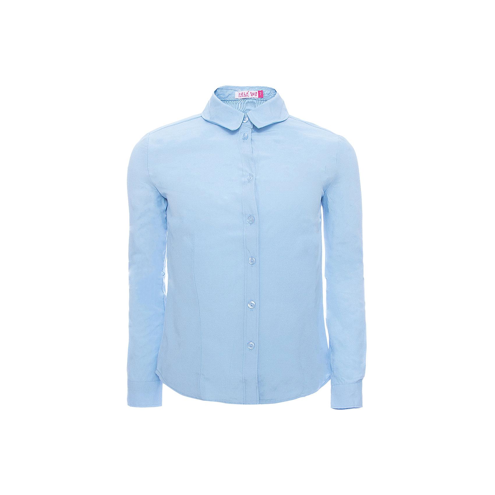 Блуза SELA для девочкиБлузки и рубашки<br>Характеристики товара:<br><br>• цвет: фиолетовый<br>• состав ткани: 55% хлопок, 45% полиэстер<br>• сезон: демисезон<br>• особенности модели: школьная<br>• застежка: пуговицы<br>• длинные рукава<br>• страна бренда: Россия<br>• страна производства: Китай<br><br>Такая блузка для девочки отличается классическим дизайном. Легкая блуза для девочки - базовая вещь для гардероба. Такая блуза для ребенка сшита из легкого хлопкового материала. Модели от Sela стильные и удобные, как и эта детская блуза. <br><br>Блузу для девочки Sela (Села) можно купить в нашем интернет-магазине.<br><br>Ширина мм: 186<br>Глубина мм: 87<br>Высота мм: 198<br>Вес г: 197<br>Цвет: лиловый<br>Возраст от месяцев: 84<br>Возраст до месяцев: 96<br>Пол: Женский<br>Возраст: Детский<br>Размер: 128,164,122,134,140,146,152<br>SKU: 7032256