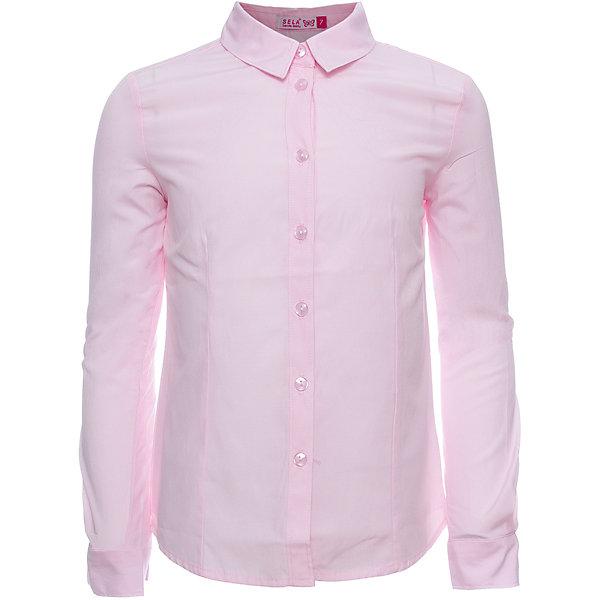 Блуза SELA для девочкиБлузки и рубашки<br>Характеристики товара:<br><br>• цвет: розовый<br>• состав ткани: 55% хлопок, 45% полиэстер<br>• сезон: демисезон<br>• особенности модели: школьная<br>• застежка: пуговицы<br>• длинные рукава<br>• страна бренда: Россия<br>• страна производства: Китай<br><br> Такая блуза для ребенка сшита из тонкого хлопкового материала. Модели от Sela стильные и удобные, как и эта детская рубашка с длинным рукавом. Блузка для девочки отличается классическим дизайном. Розовая блуза для девочки - базовая вещь для гардероба.<br><br>Блузу для девочки Sela (Села) можно купить в нашем интернет-магазине.<br>Ширина мм: 186; Глубина мм: 87; Высота мм: 198; Вес г: 197; Цвет: розовый; Возраст от месяцев: 120; Возраст до месяцев: 132; Пол: Женский; Возраст: Детский; Размер: 146,122,164,152,140,134,128; SKU: 7032264;
