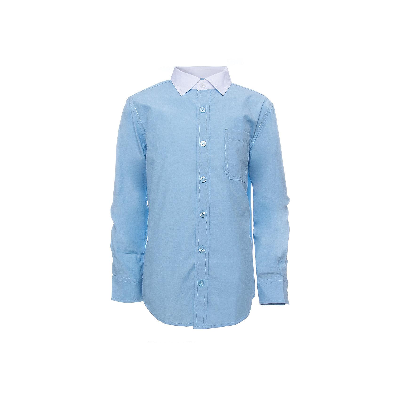 Рубашка SELA для мальчикаБлузки и рубашки<br>Характеристики товара:<br><br>• цвет: голубой<br>• состав ткани: 60% хлопок, 40% полиэстер<br>• сезон: демисезон<br>• особенности модели: школьная<br>• застежка: пуговицы<br>• длинные рукава<br>• страна бренда: Россия<br>• страна производства: Индия<br><br>Голубая рубашка для мальчика - базовая вещь для гардероба. Эта рубашка для ребенка сшита из дышащего хлопкового материала. Модели от Sela стильные и удобные, как и эта детская рубашка с длинным рукавом. Рубашка для мальчика отличается доступной ценой.<br><br>Рубашку для мальчика Sela (Села) можно купить в нашем интернет-магазине.<br><br>Ширина мм: 174<br>Глубина мм: 10<br>Высота мм: 169<br>Вес г: 157<br>Цвет: голубой<br>Возраст от месяцев: 168<br>Возраст до месяцев: 180<br>Пол: Мужской<br>Возраст: Детский<br>Размер: 170,122,128,134,140,146,152,158,164<br>SKU: 7032323