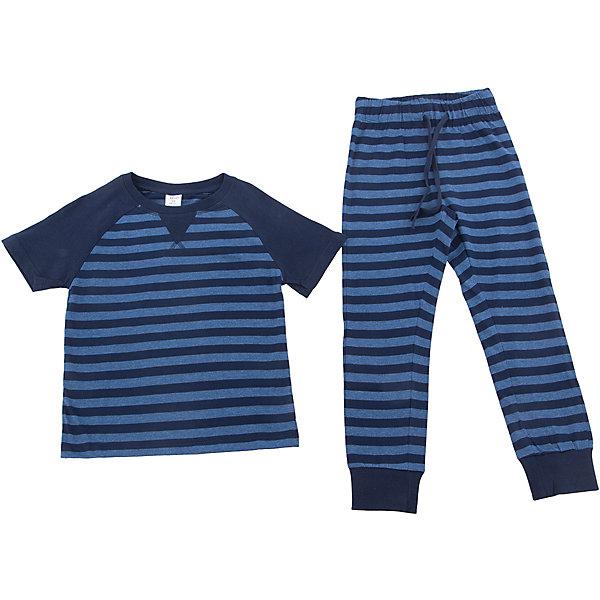 Пижама SELA для мальчикаПижамы и сорочки<br>Характеристики товара:<br><br>• цвет: синий<br>• состав ткани: 60% хлопок, 40% полиэстер<br>• комплектация: футболка, брюки<br>• сезон: круглый год<br>• особенности модели: спортивный стиль<br>• короткие рукава<br>• пояс: резинка, шнурок<br>• страна бренда: Россия<br>• страна производства: Индия<br><br>Эта пижама для мальчика поможет обеспечить ребенку комфорт. Синяя детская пижама - универсальная и удобная вещь. Эта пижама для ребенка сшита из материала, в составе которого - натуральный хлопок. А значит трикотажная пижама позволяет коже дышать, не вызывает аллергии, долго служит и легко стирается.<br><br>Пижаму для мальчика Sela (Села) можно купить в нашем интернет-магазине.<br><br>Ширина мм: 281<br>Глубина мм: 70<br>Высота мм: 188<br>Вес г: 295<br>Цвет: синий<br>Возраст от месяцев: 72<br>Возраст до месяцев: 84<br>Пол: Мужской<br>Возраст: Детский<br>Размер: 116/122,104/110,140/146,128/134<br>SKU: 7032367